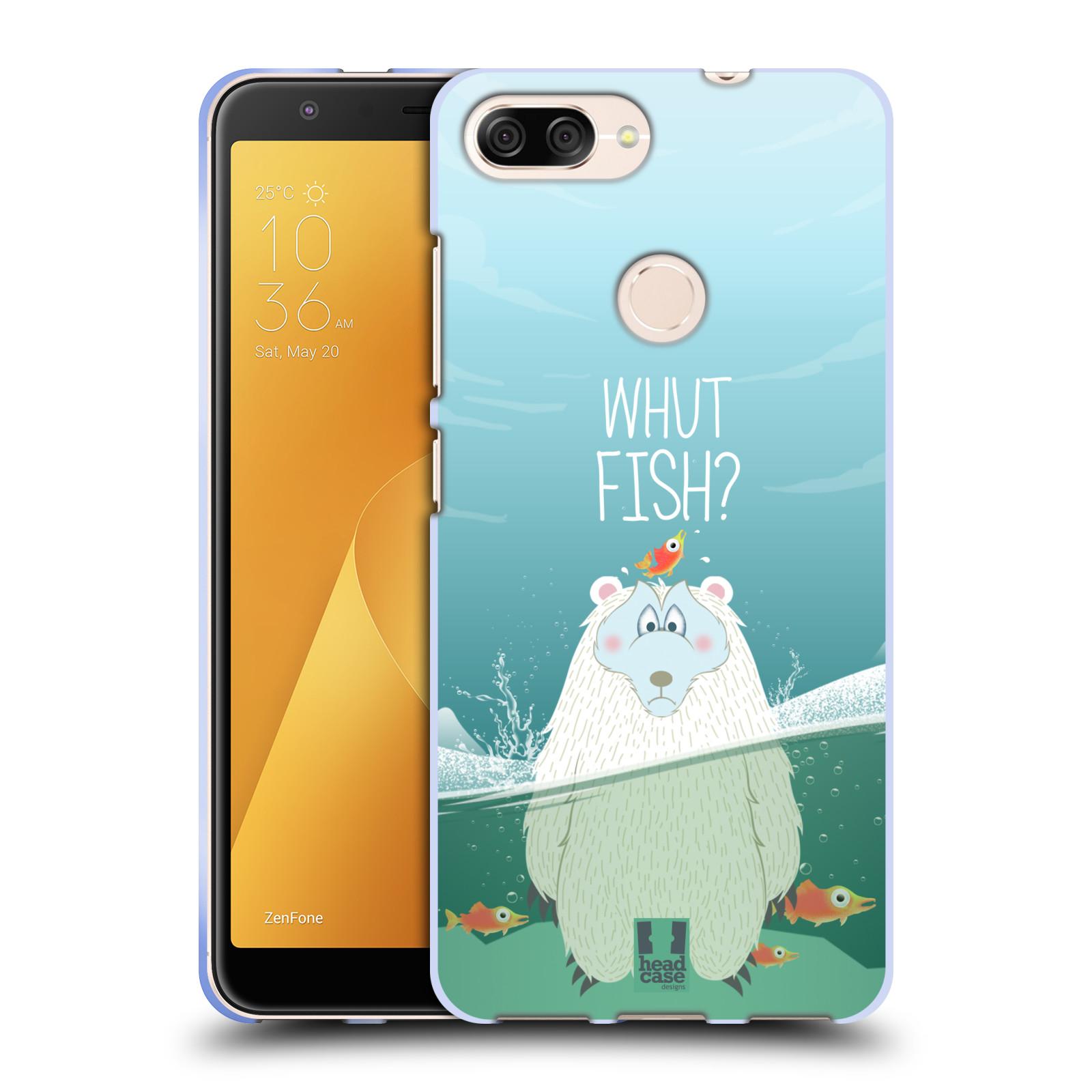 Silikonové pouzdro na mobil Asus ZenFone Max Plus (M1) - Head Case - Medvěd Whut Fish?