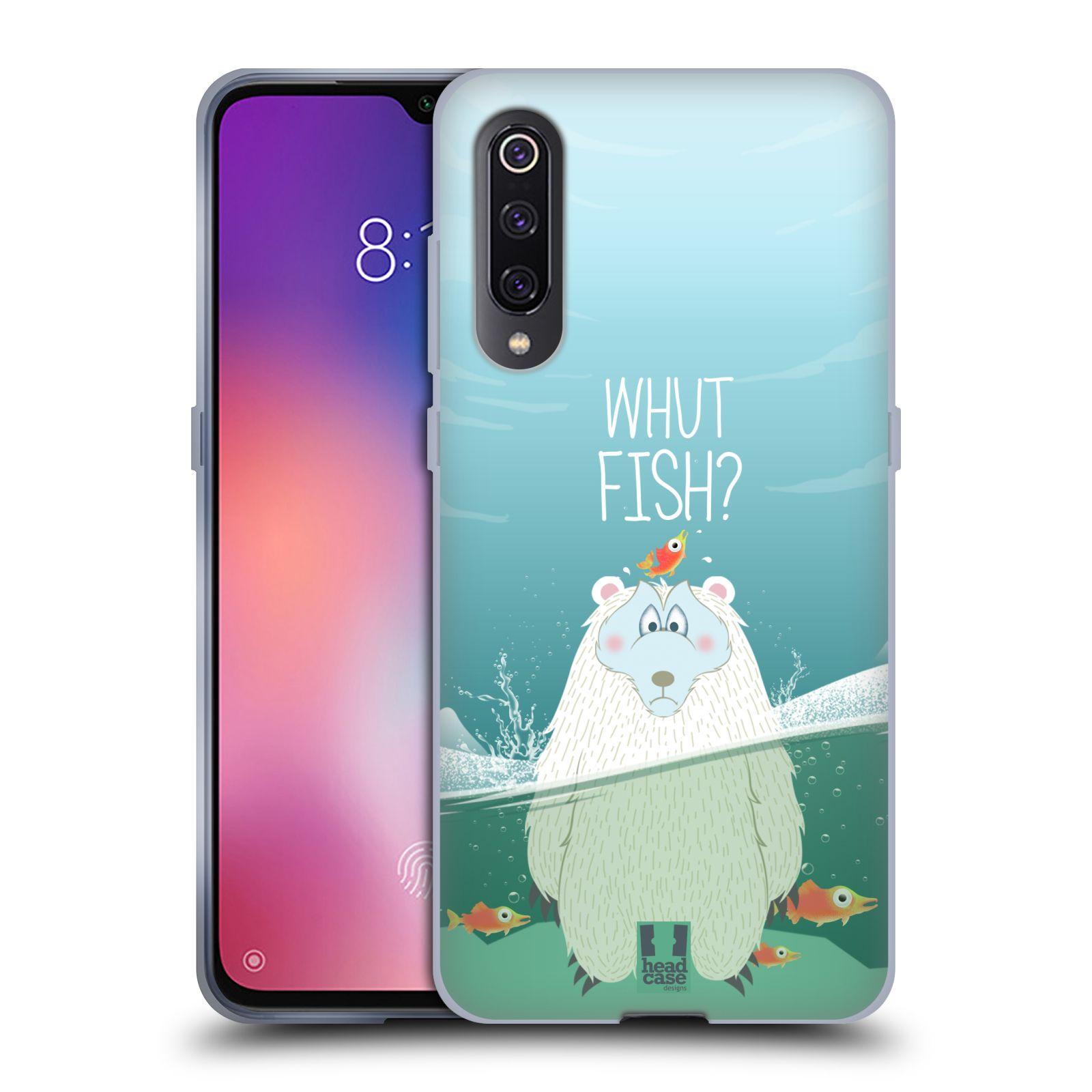 Silikonové pouzdro na mobil Xiaomi Mi 9 - Head Case - Medvěd Whut Fish?