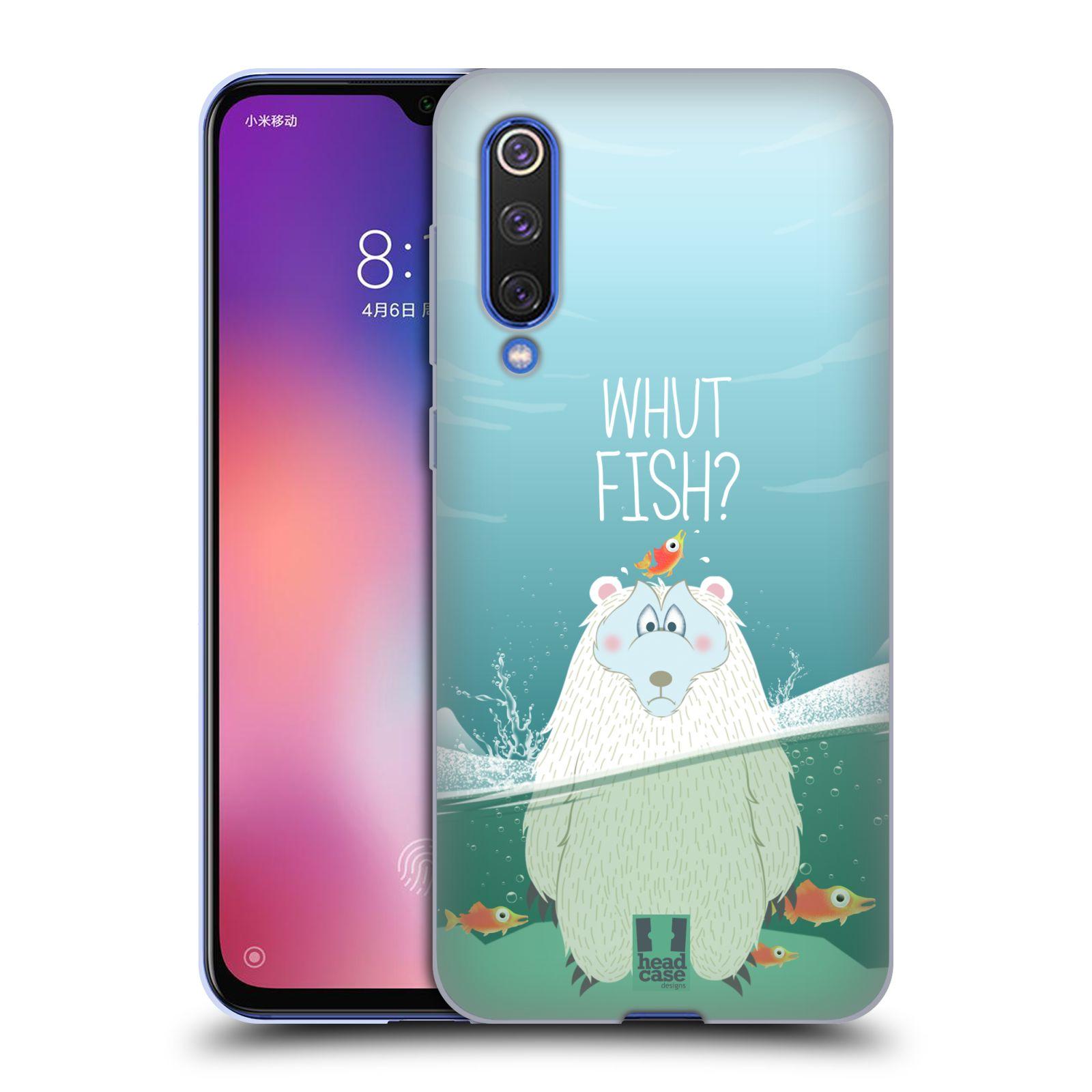 Silikonové pouzdro na mobil Xiaomi Mi 9 SE - Head Case - Medvěd Whut Fish?