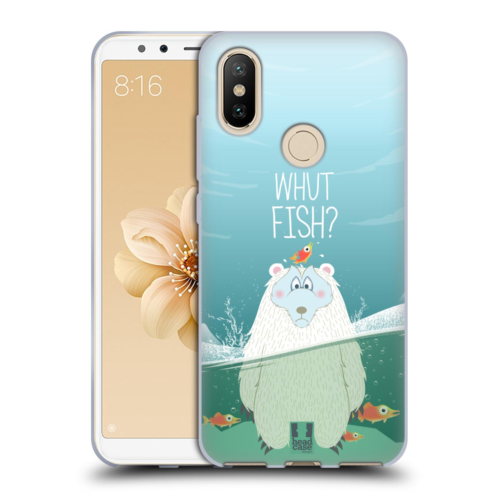 Silikonové pouzdro na mobil Xiaomi Mi A2 - Head Case - Medvěd Whut Fish?