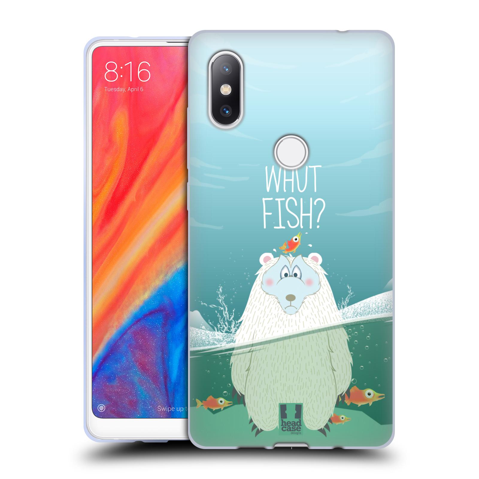 Silikonové pouzdro na mobil Xiaomi Mi Mix 2S - Head Case - Medvěd Whut Fish?