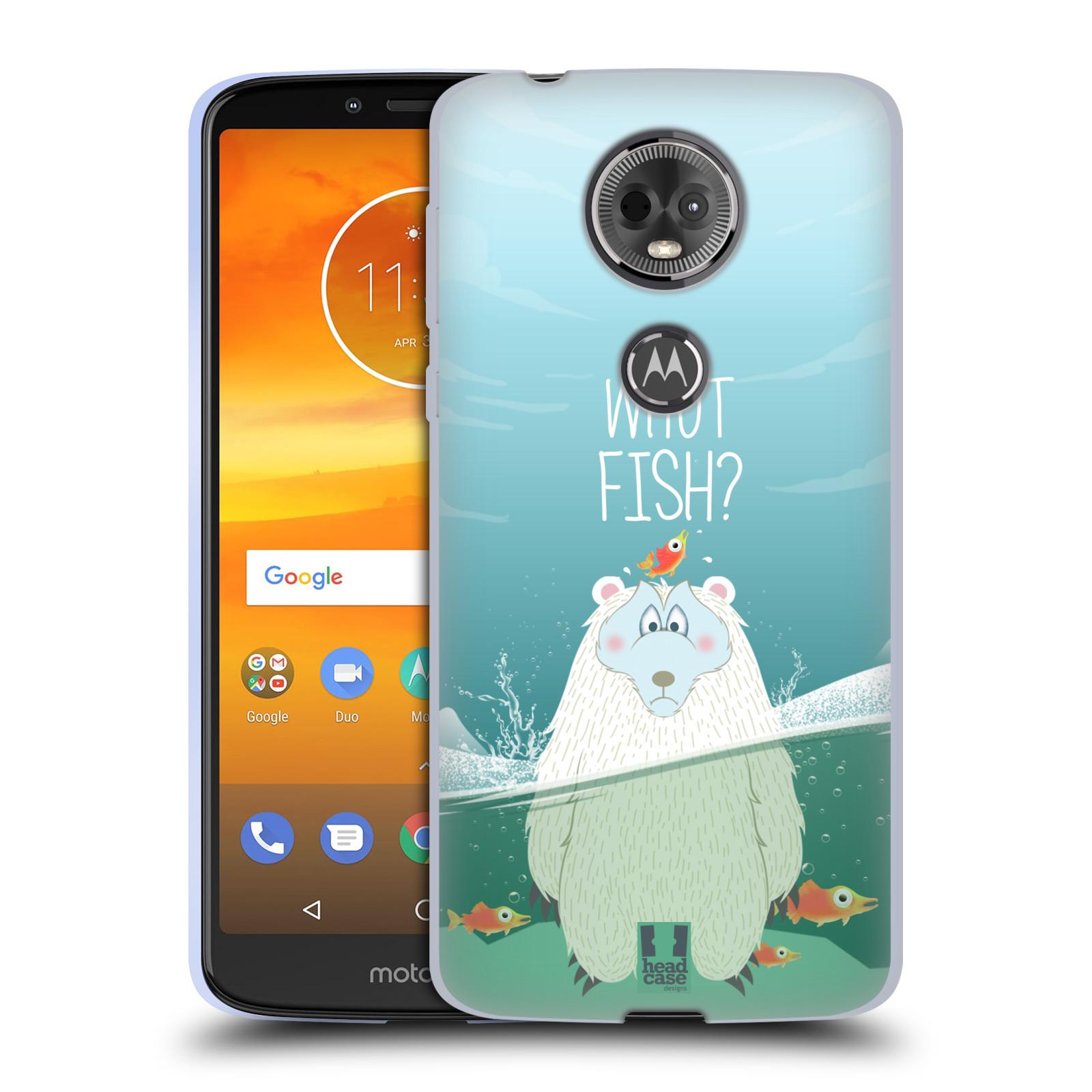 Silikonové pouzdro na mobil Motorola Moto E5 Plus - Head Case - Medvěd Whut Fish?
