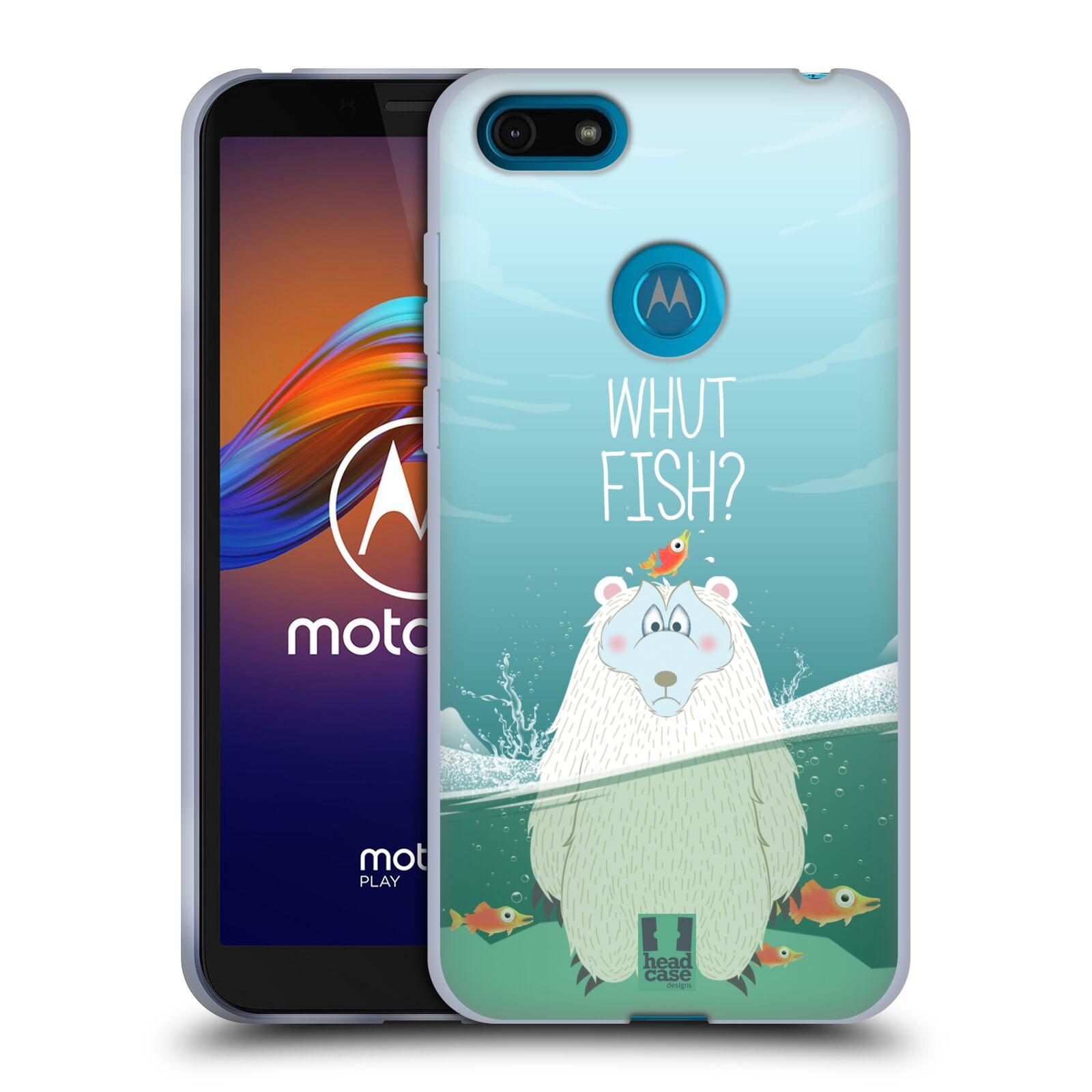 Silikonové pouzdro na mobil Motorola Moto E6 Play - Head Case - Medvěd Whut Fish?