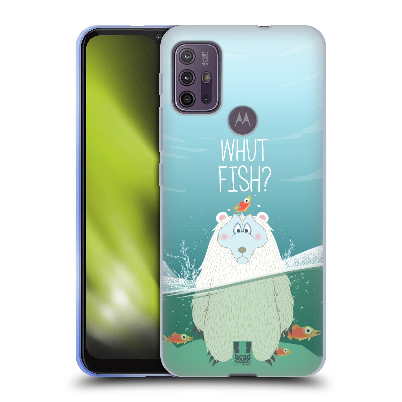 Silikonové pouzdro na mobil Motorola Moto G10 / G30 - Head Case - Medvěd Whut Fish?