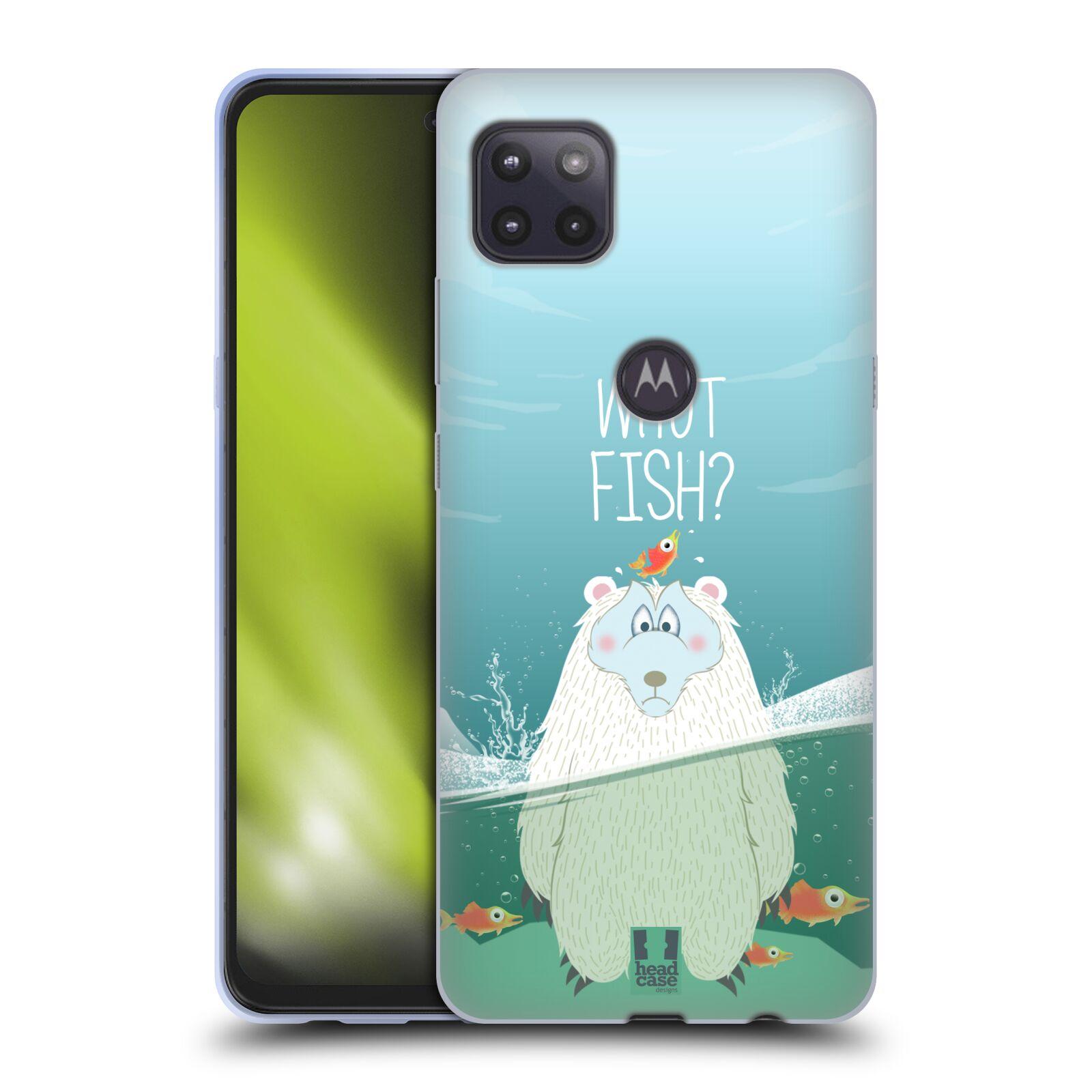 Silikonové pouzdro na mobil Motorola Moto G 5G - Head Case - Medvěd Whut Fish?