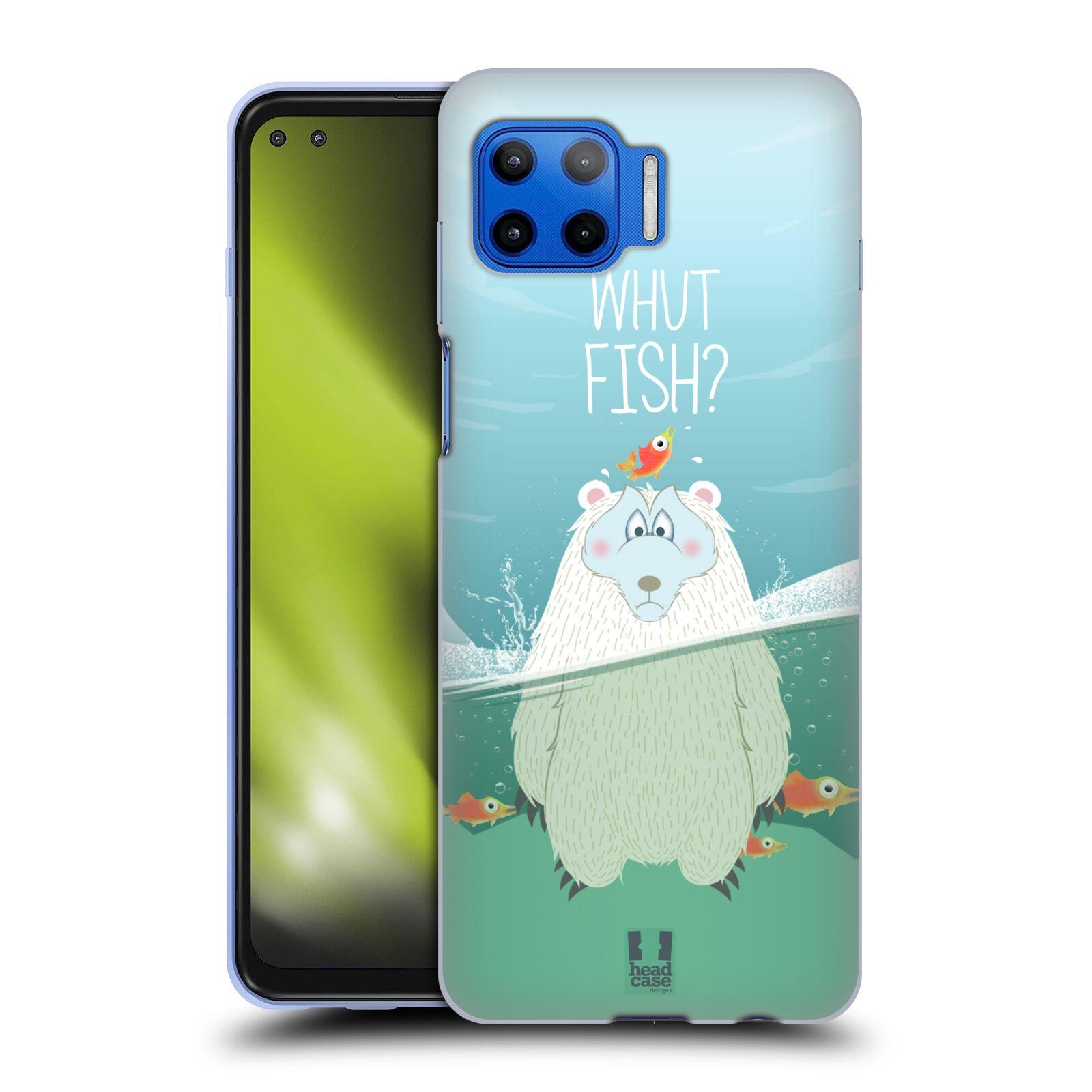 Silikonové pouzdro na mobil Motorola Moto G 5G Plus - Head Case - Medvěd Whut Fish?