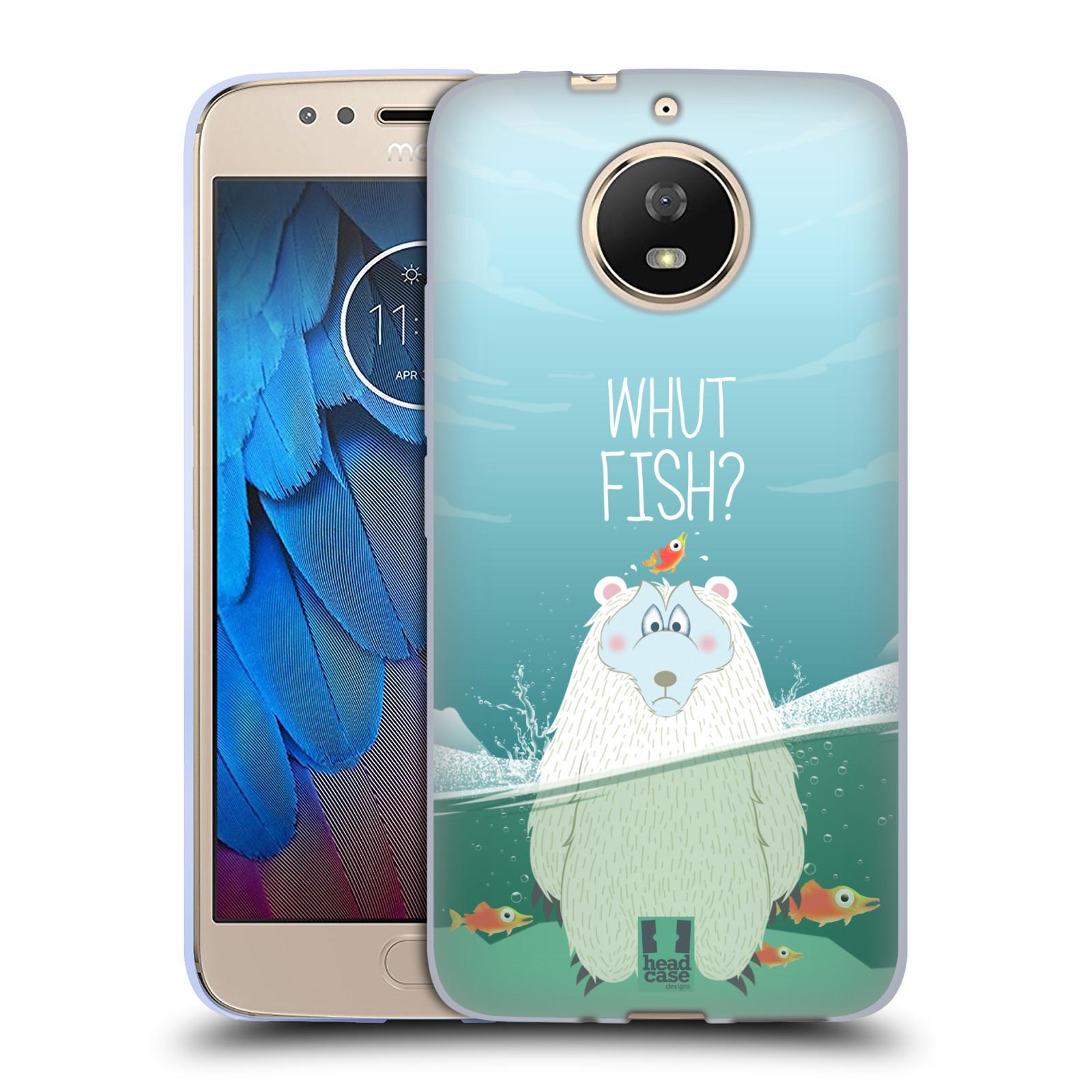 Silikonové pouzdro na mobil Lenovo Moto G5s - Head Case - Medvěd Whut Fish?