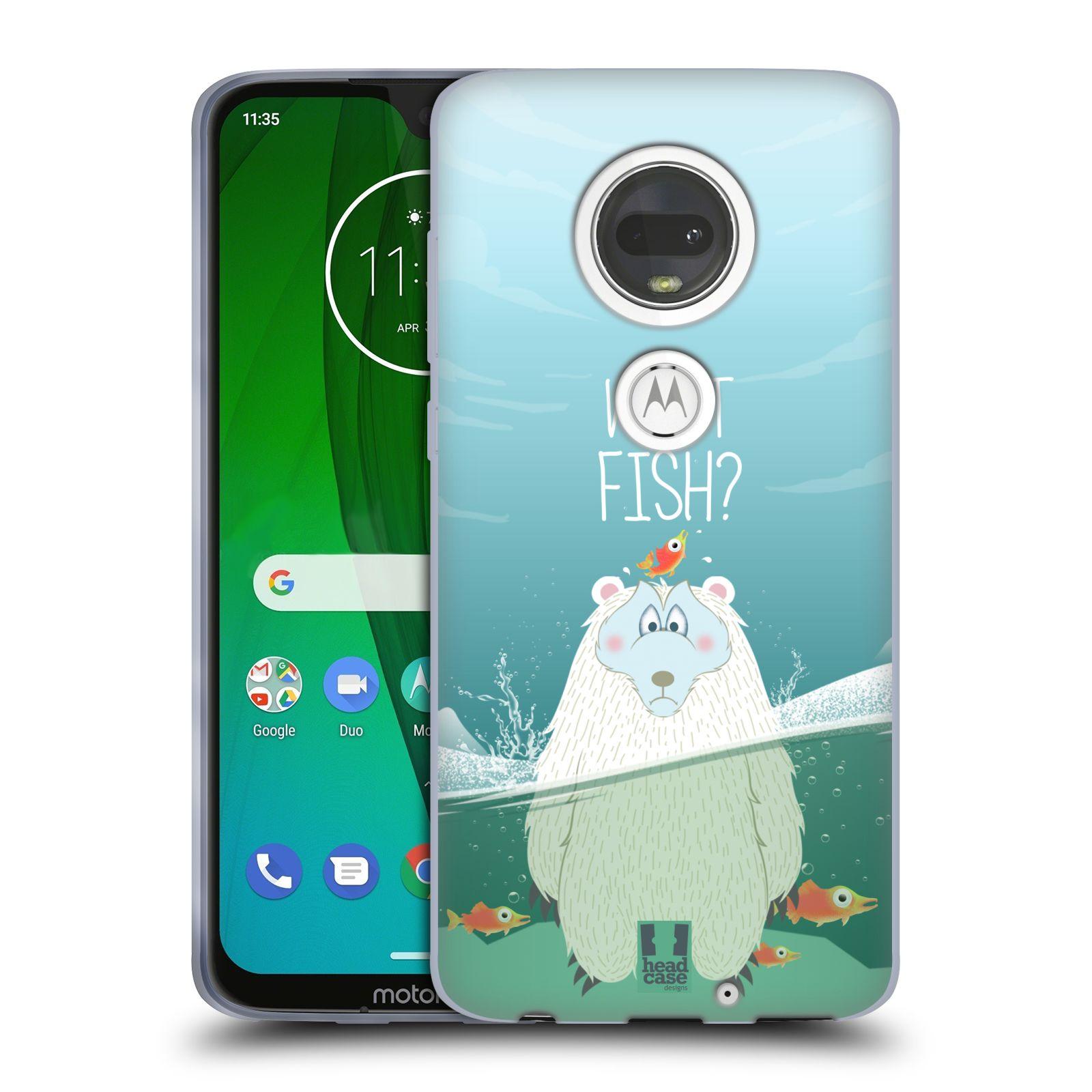 Silikonové pouzdro na mobil Motorola Moto G7 - Head Case - Medvěd Whut Fish?