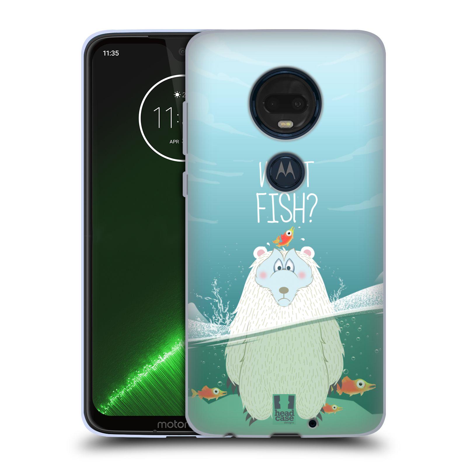 Silikonové pouzdro na mobil Motorola Moto G7 Plus - Head Case - Medvěd Whut Fish?