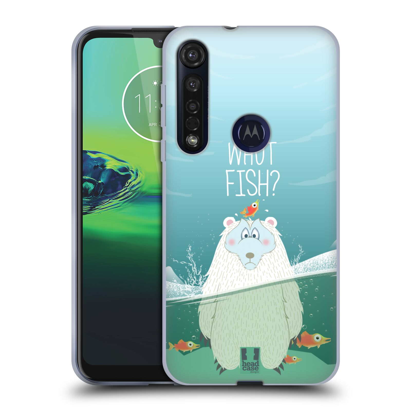 Silikonové pouzdro na mobil Motorola Moto G8 Plus - Head Case - Medvěd Whut Fish?