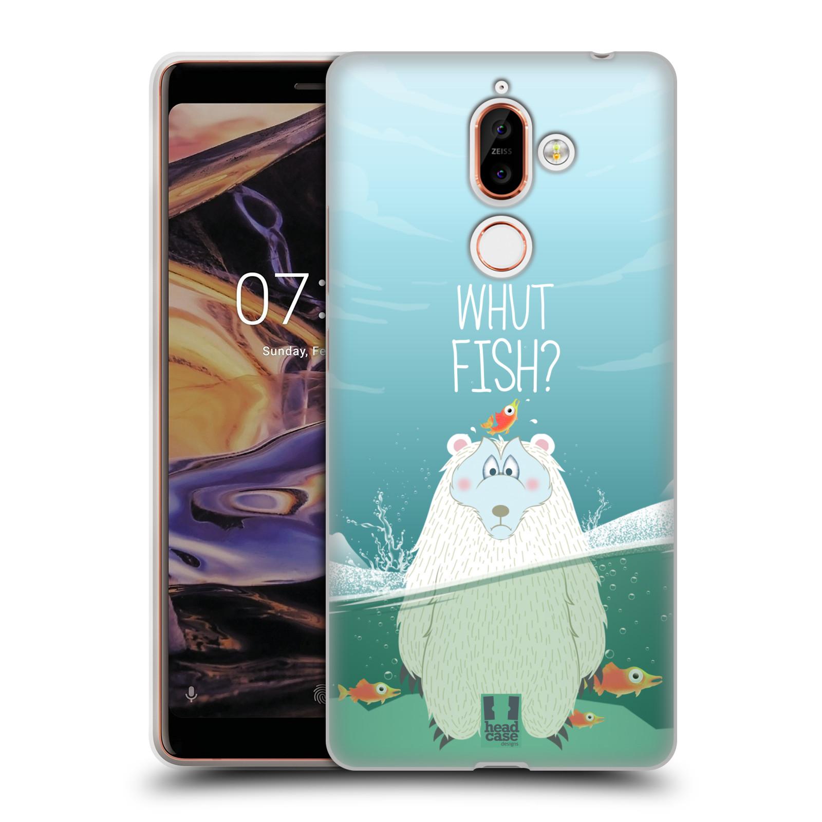 Silikonové pouzdro na mobil Nokia 7 Plus - Head Case - Medvěd Whut Fish?
