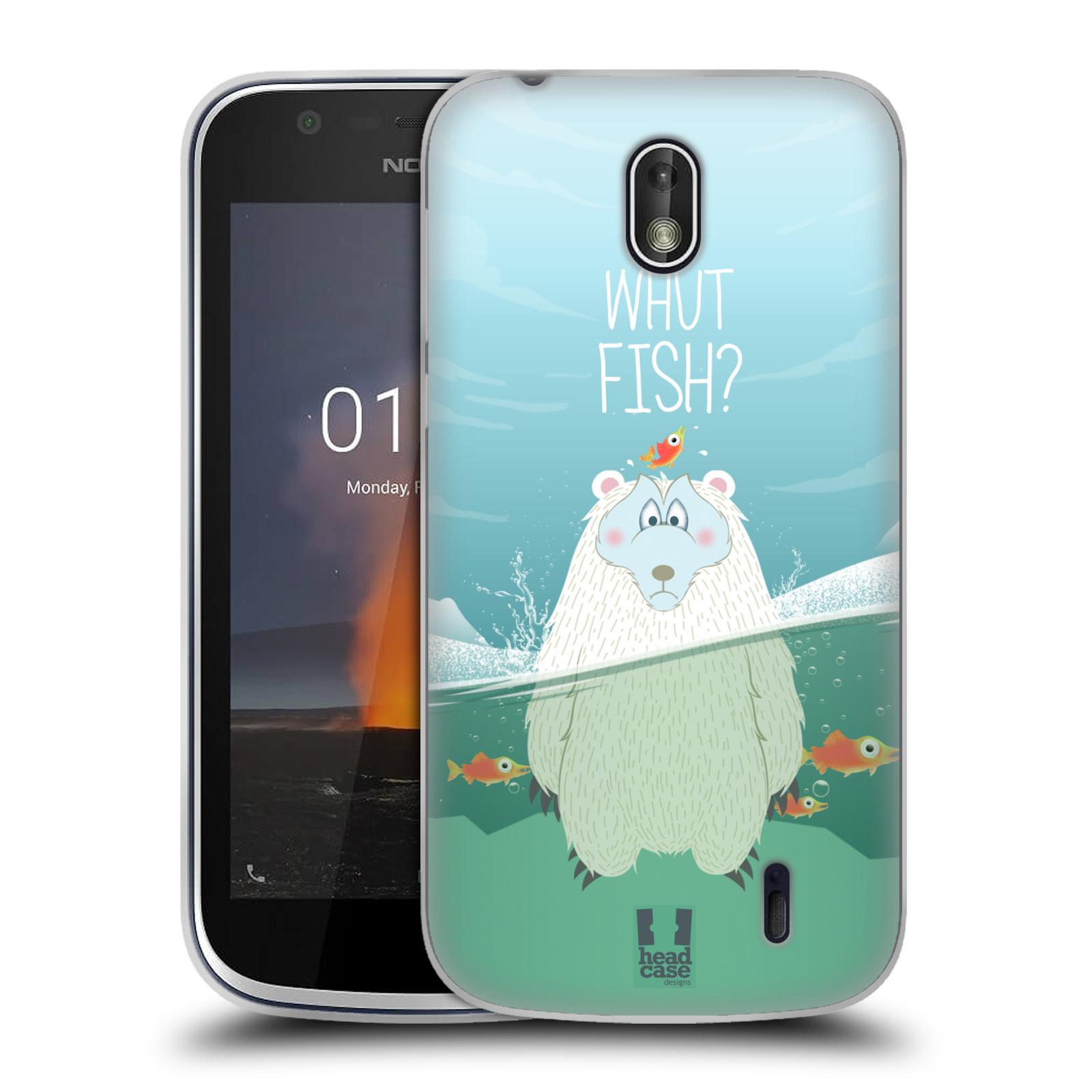 Silikonové pouzdro na mobil Nokia 1 - Head Case - Medvěd Whut Fish?
