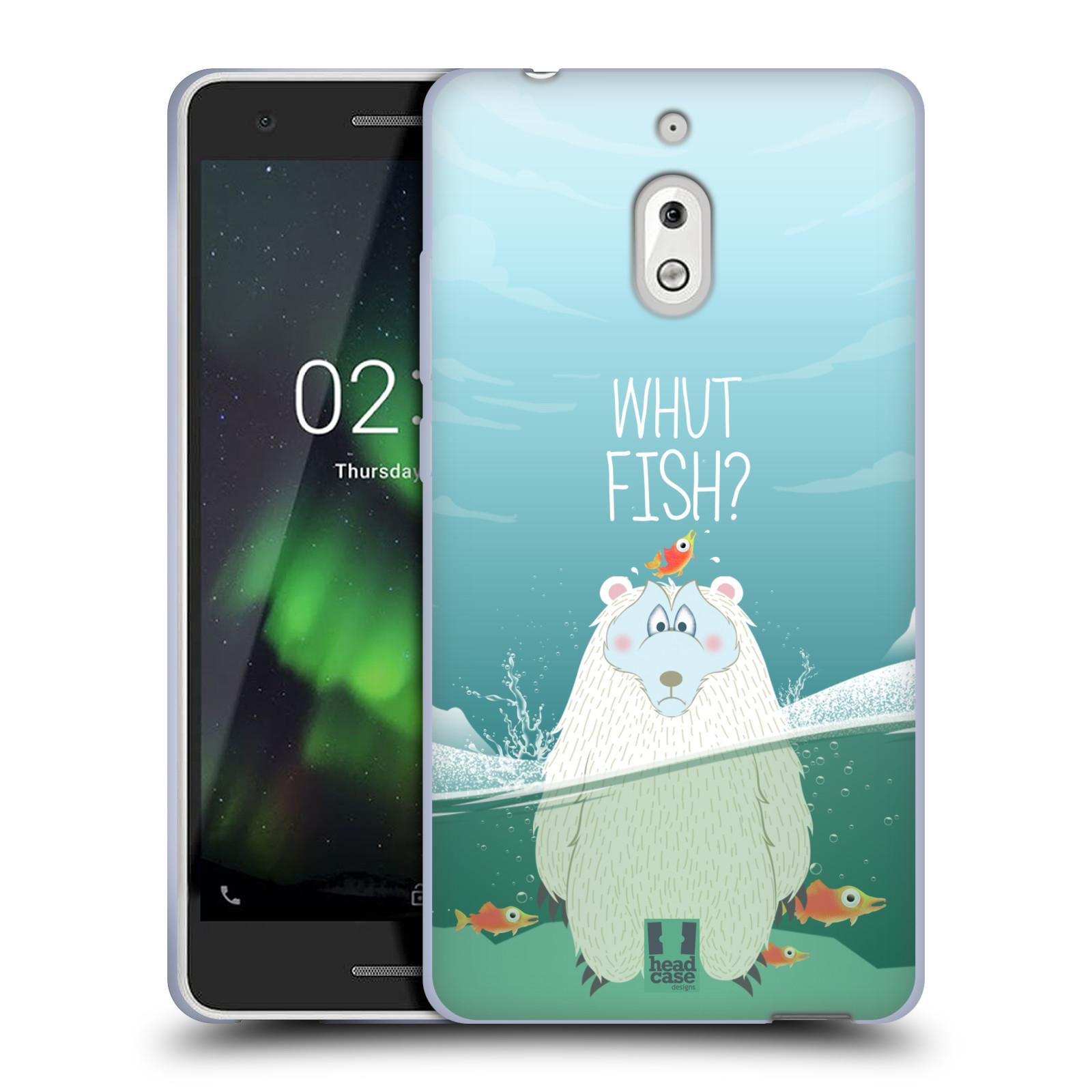 Silikonové pouzdro na mobil Nokia 2.1 - Head Case - Medvěd Whut Fish?