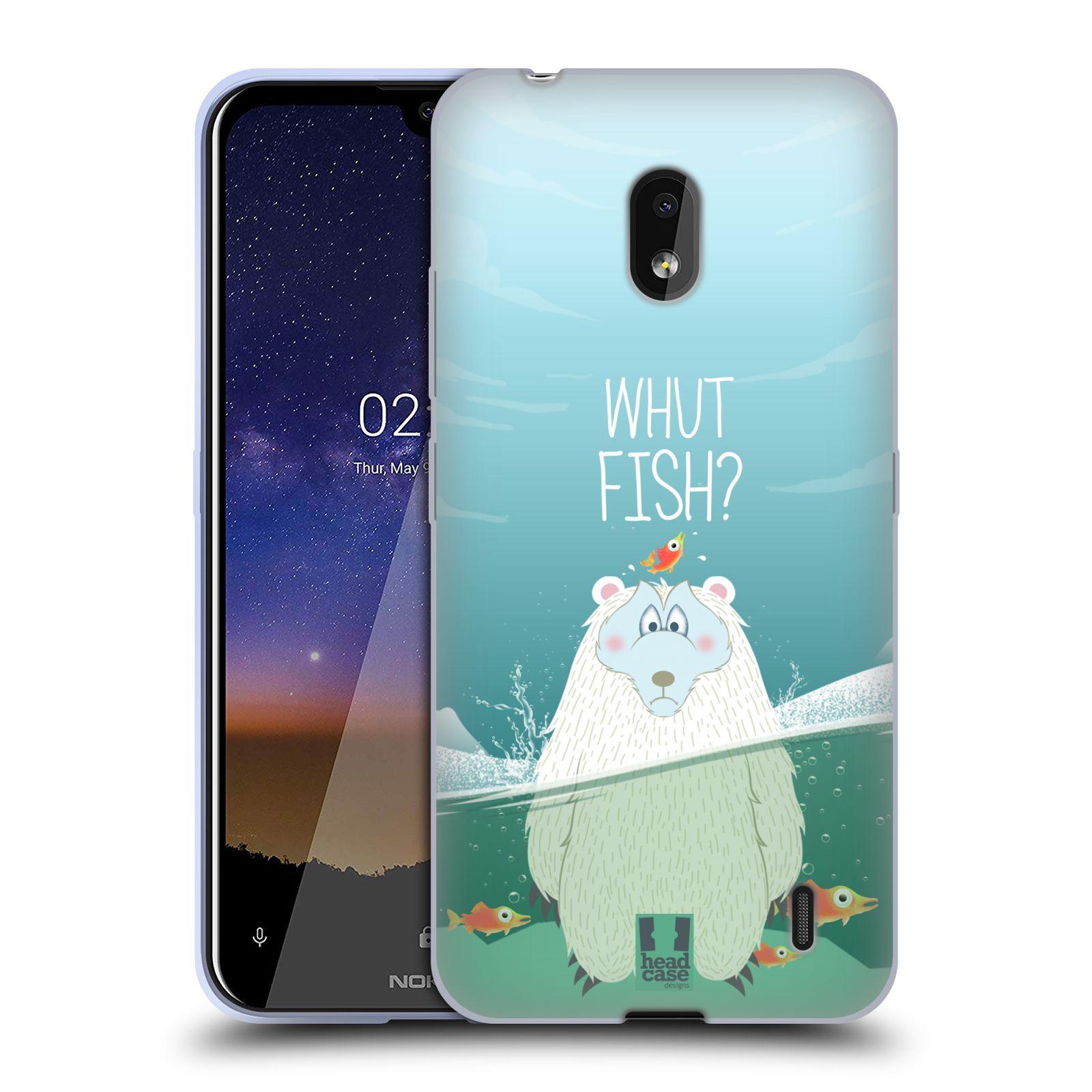 Silikonové pouzdro na mobil Nokia 2.2 - Head Case - Medvěd Whut Fish?