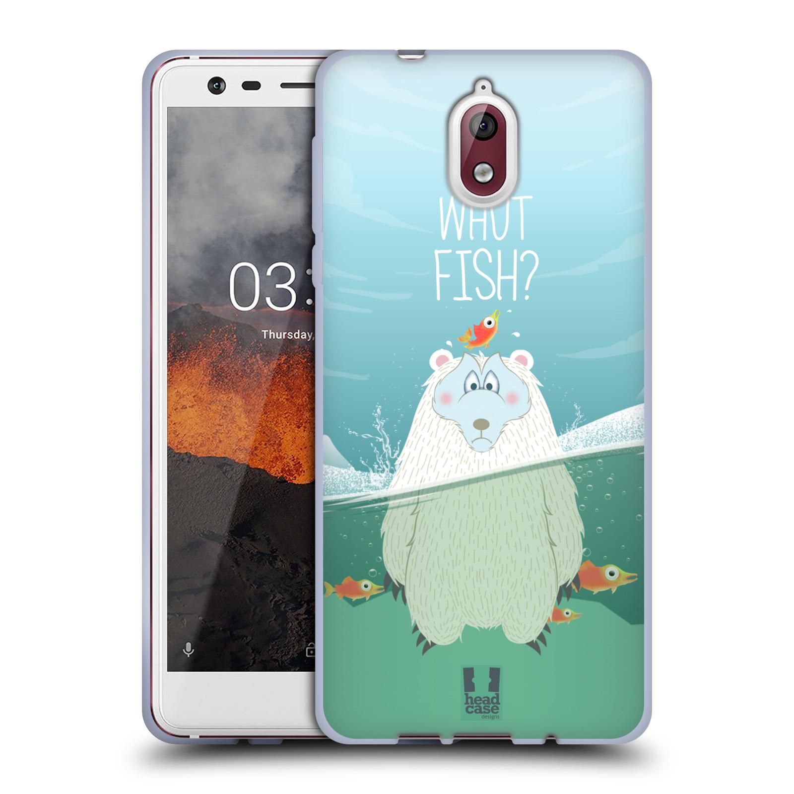 Silikonové pouzdro na mobil Nokia 3.1 - Head Case - Medvěd Whut Fish?
