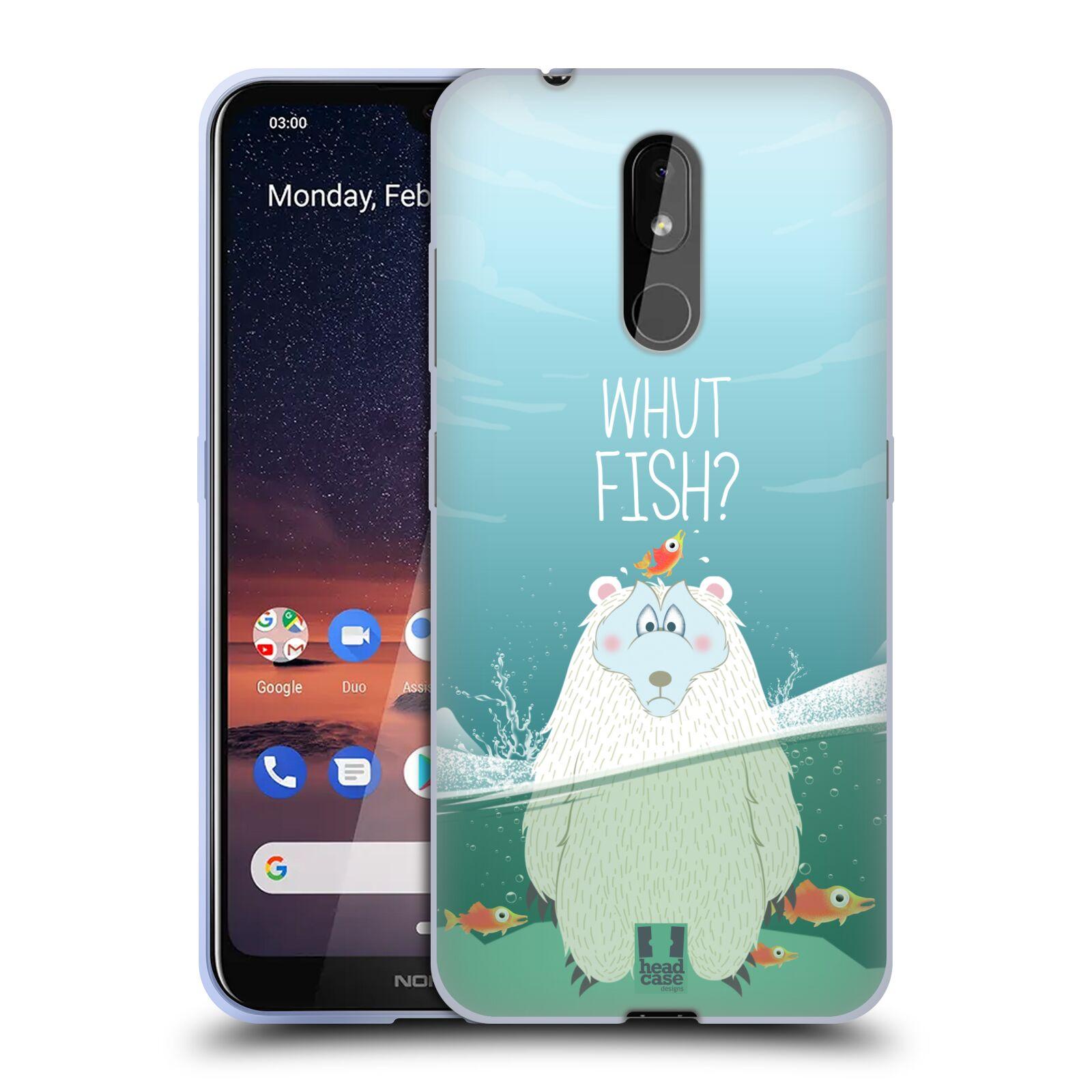 Silikonové pouzdro na mobil Nokia 3.2 - Head Case - Medvěd Whut Fish?