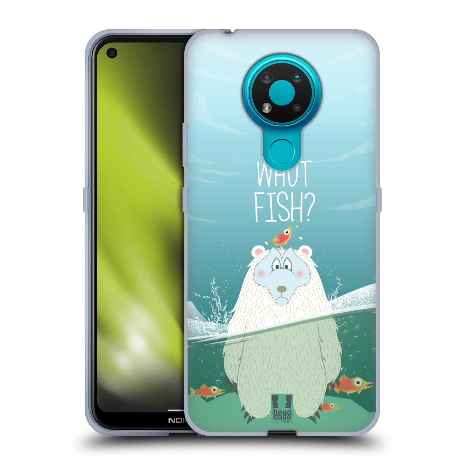 Silikonové pouzdro na mobil Nokia 3.4 - Head Case - Medvěd Whut Fish?