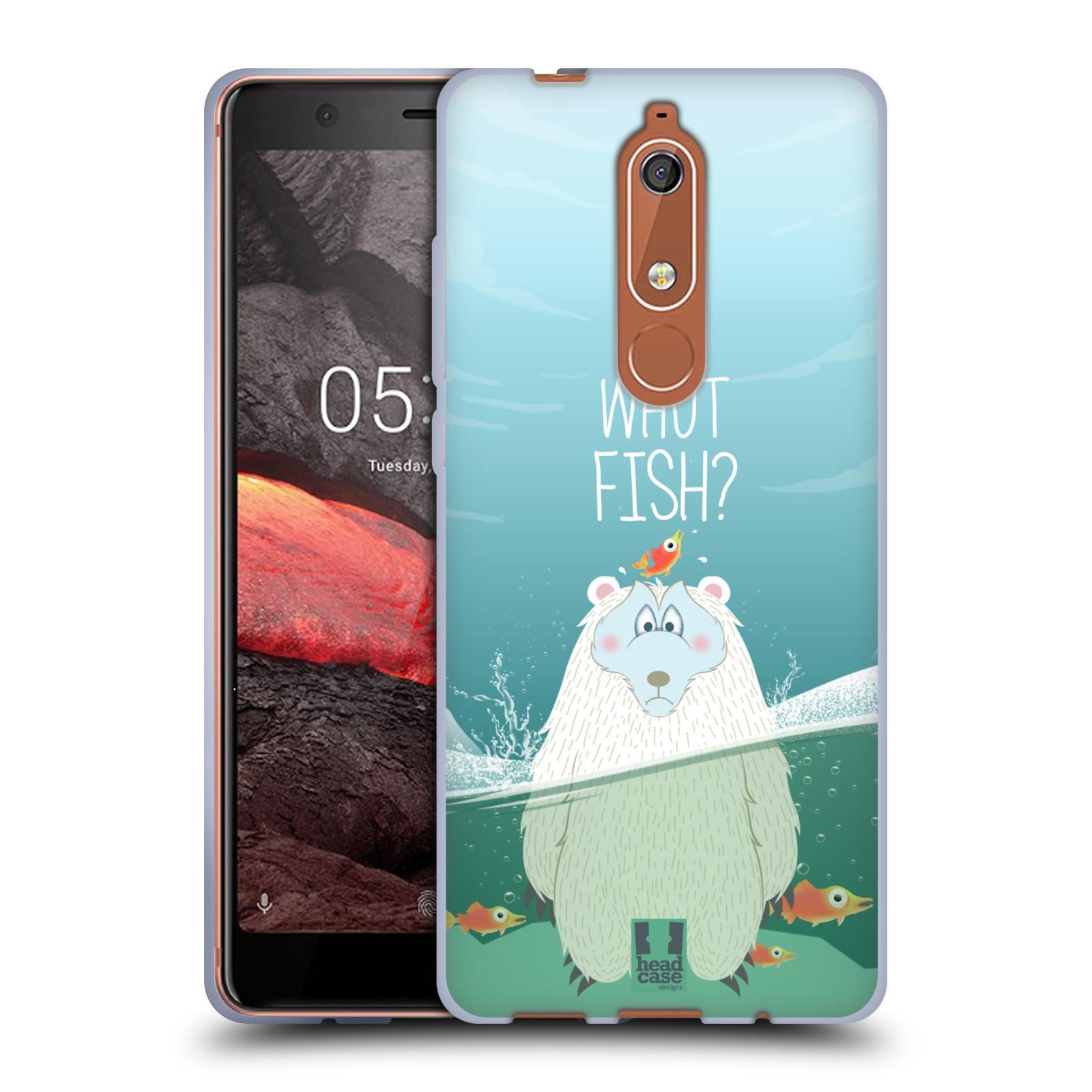 Silikonové pouzdro na mobil Nokia 5.1 - Head Case - Medvěd Whut Fish?