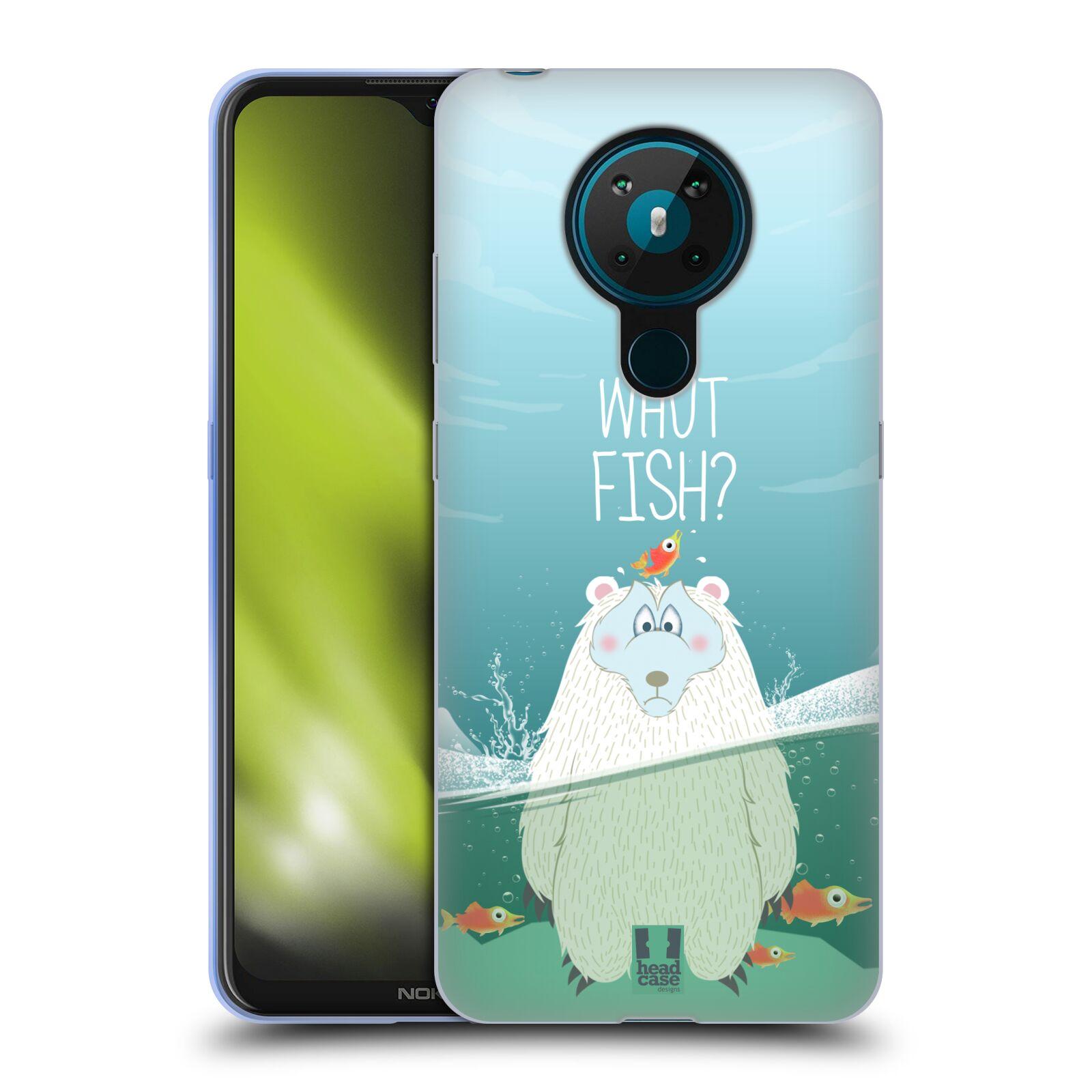 Silikonové pouzdro na mobil Nokia 5.3 - Head Case - Medvěd Whut Fish?
