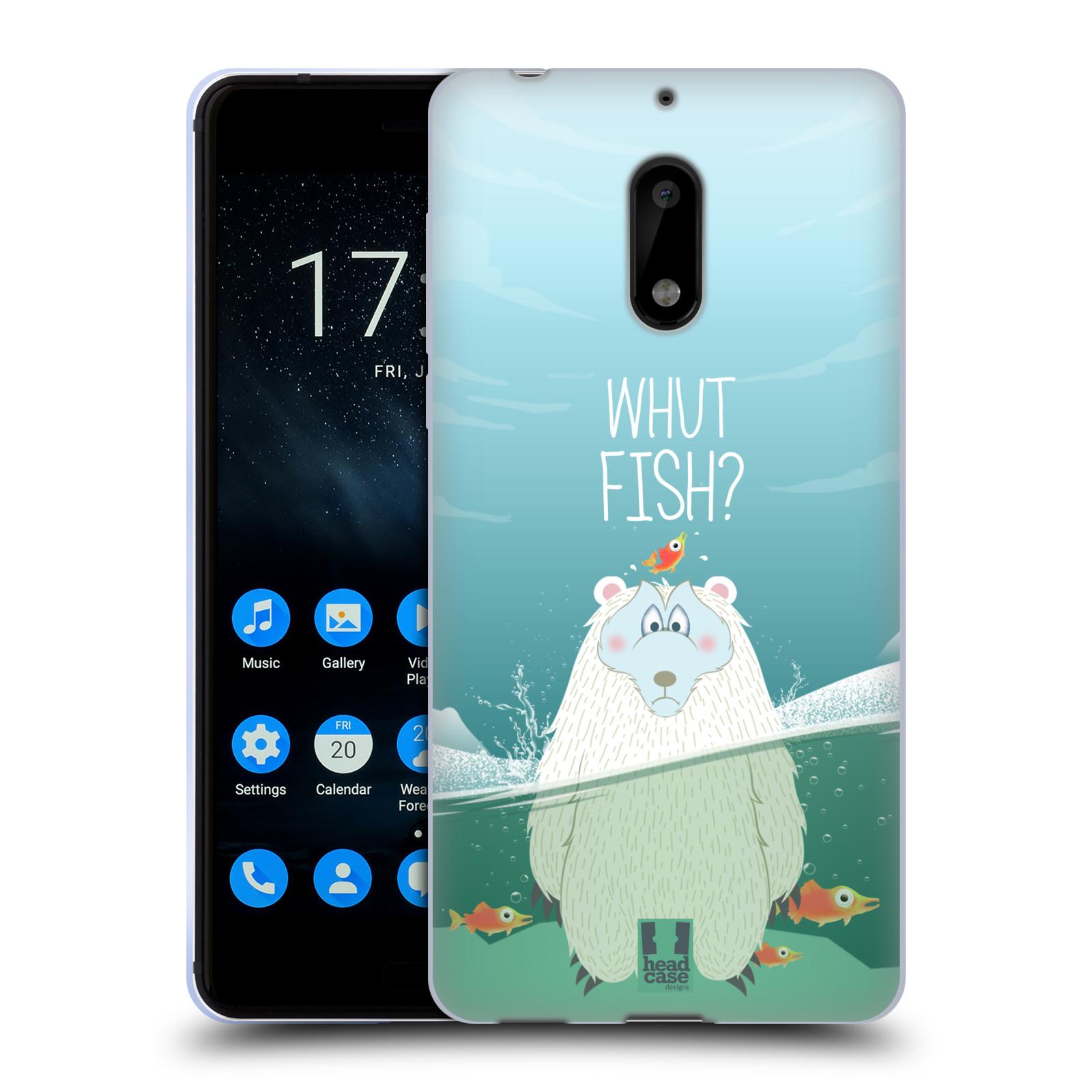 Silikonové pouzdro na mobil Nokia 6 - Head Case - Medvěd Whut Fish?