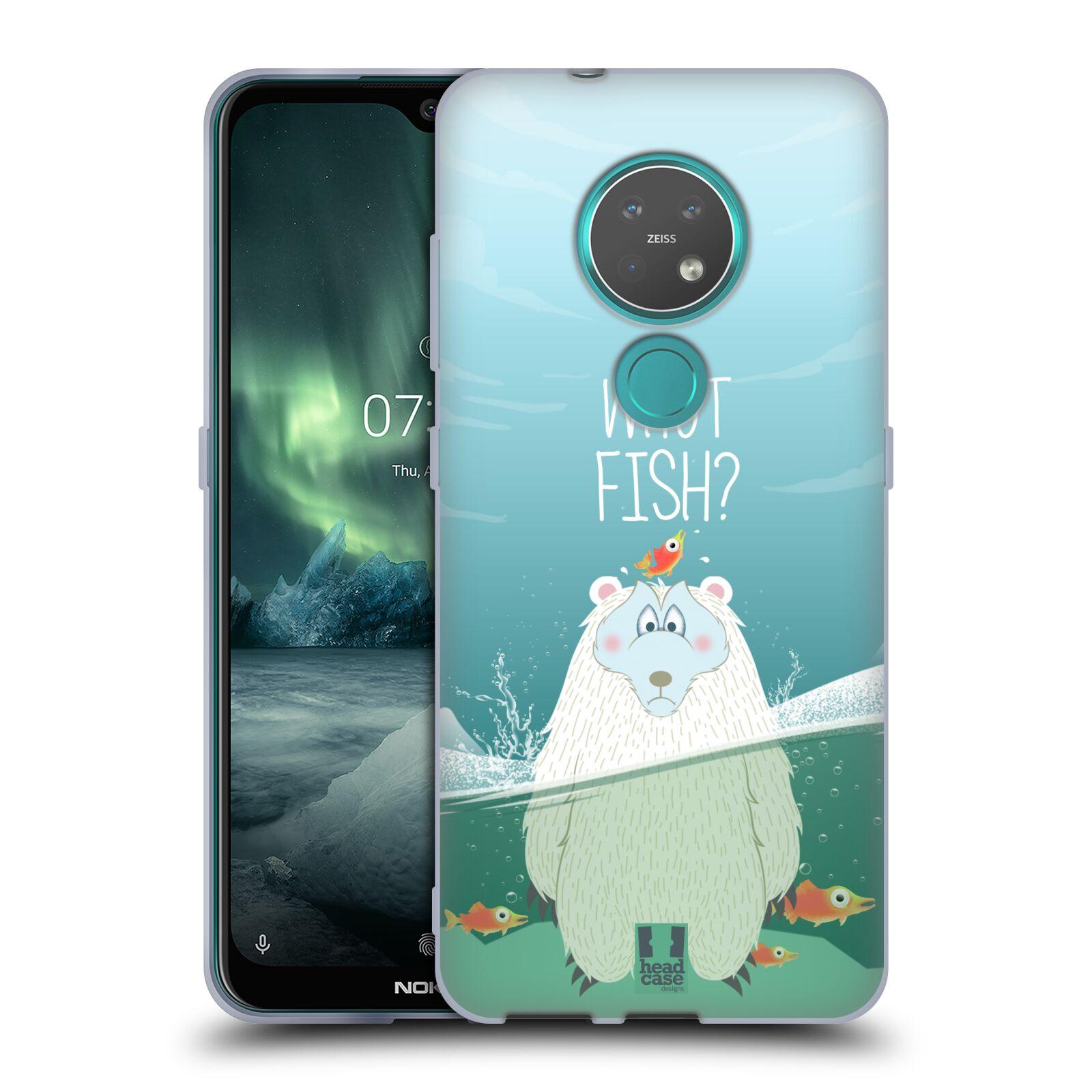 Silikonové pouzdro na mobil Nokia 7.2 - Head Case - Medvěd Whut Fish?