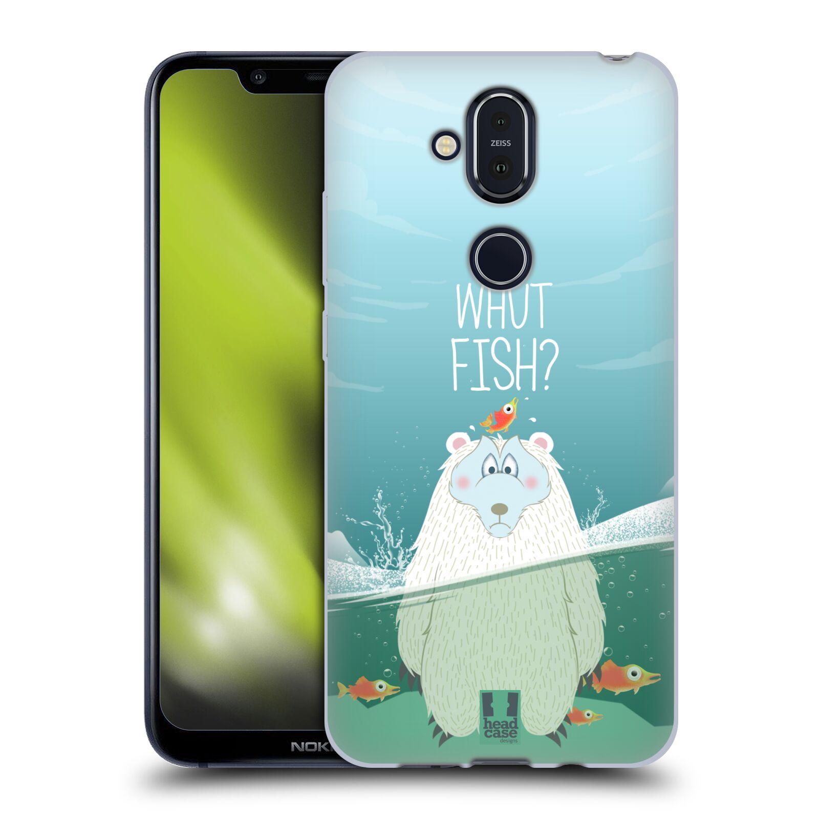 Silikonové pouzdro na mobil Nokia 8.1 - Head Case - Medvěd Whut Fish?