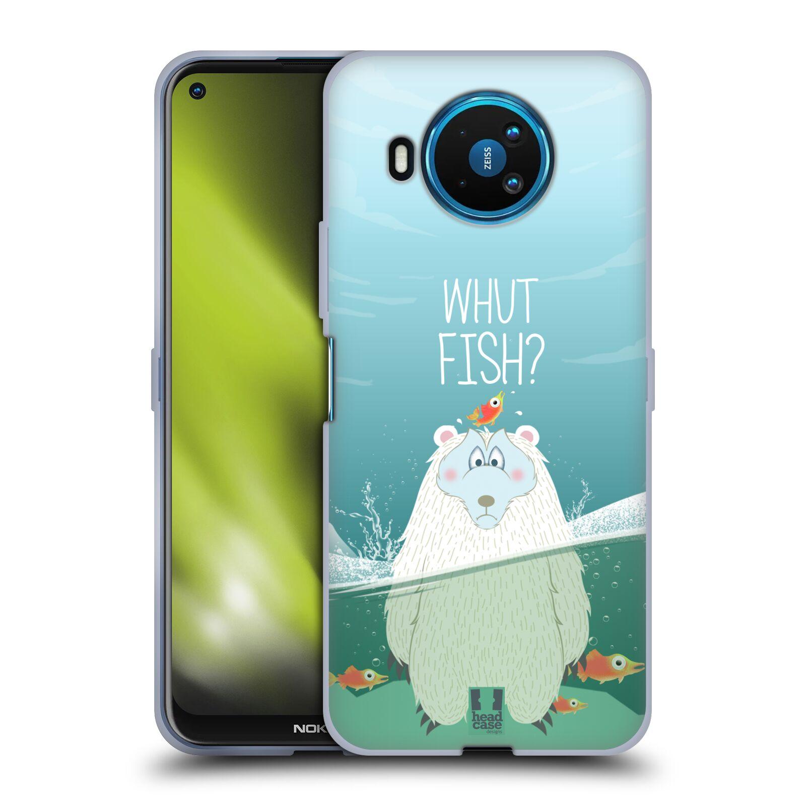 Silikonové pouzdro na mobil Nokia 8.3 5G - Head Case - Medvěd Whut Fish?