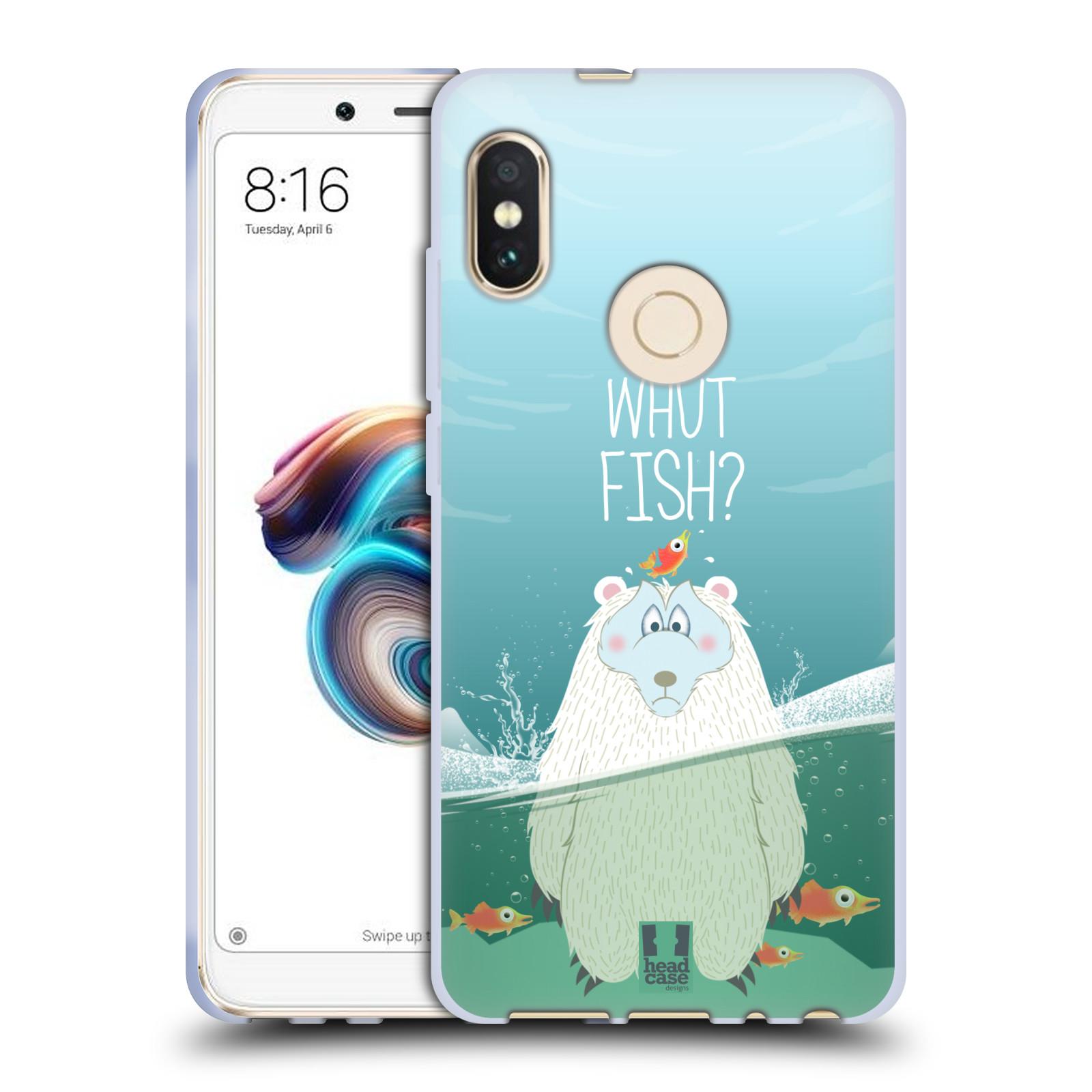 Silikonové pouzdro na mobil Xiaomi Redmi Note 5 - Head Case - Medvěd Whut Fish?