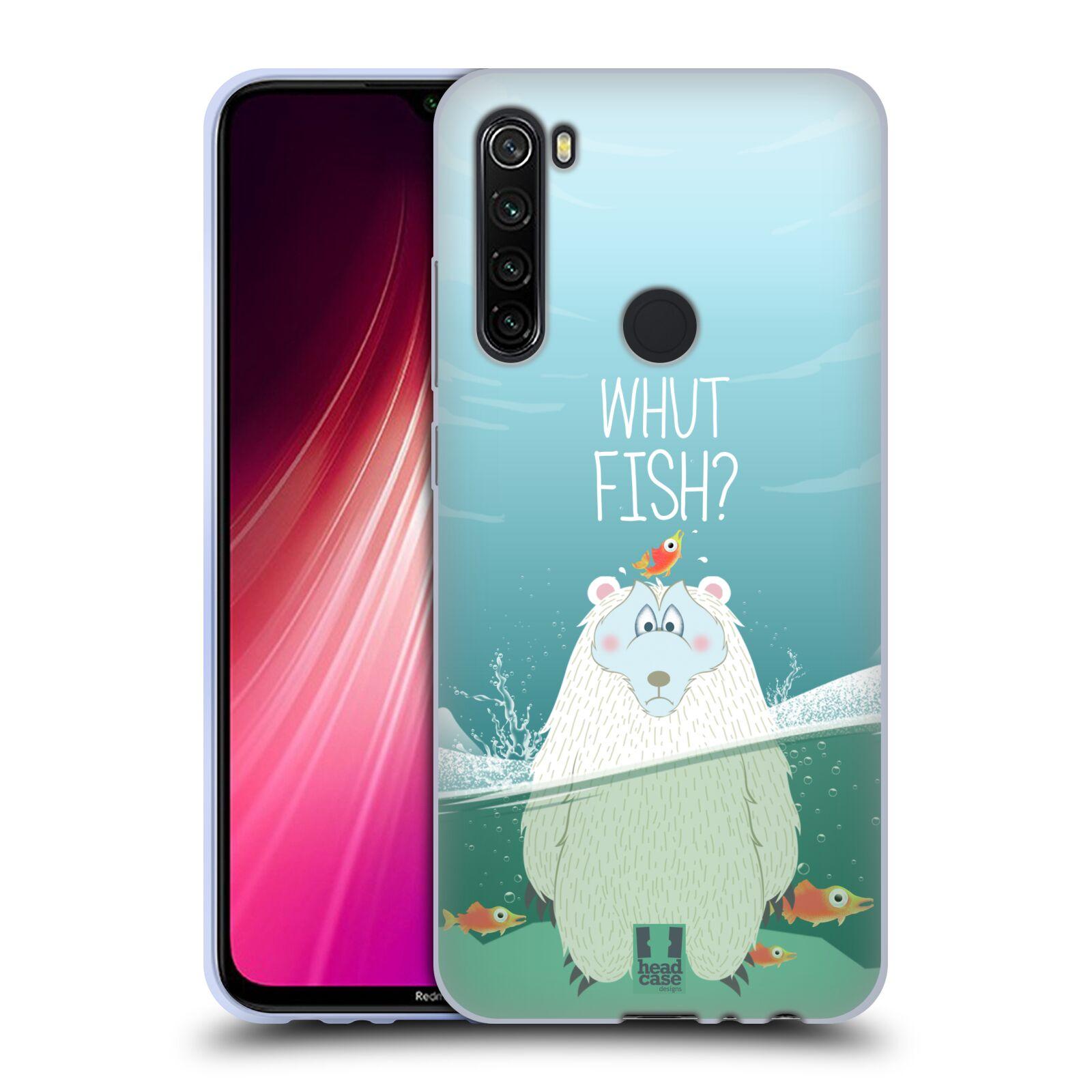 Silikonové pouzdro na mobil Xiaomi Redmi Note 8T - Head Case - Medvěd Whut Fish?