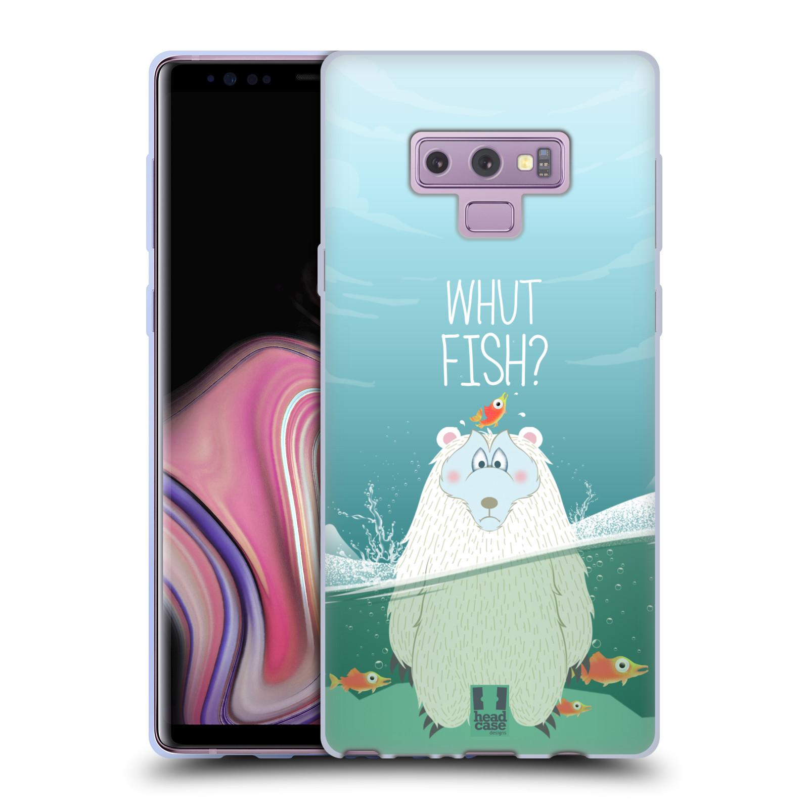 Silikonové pouzdro na mobil Samsung Galaxy Note 9 - Head Case - Medvěd Whut Fish?