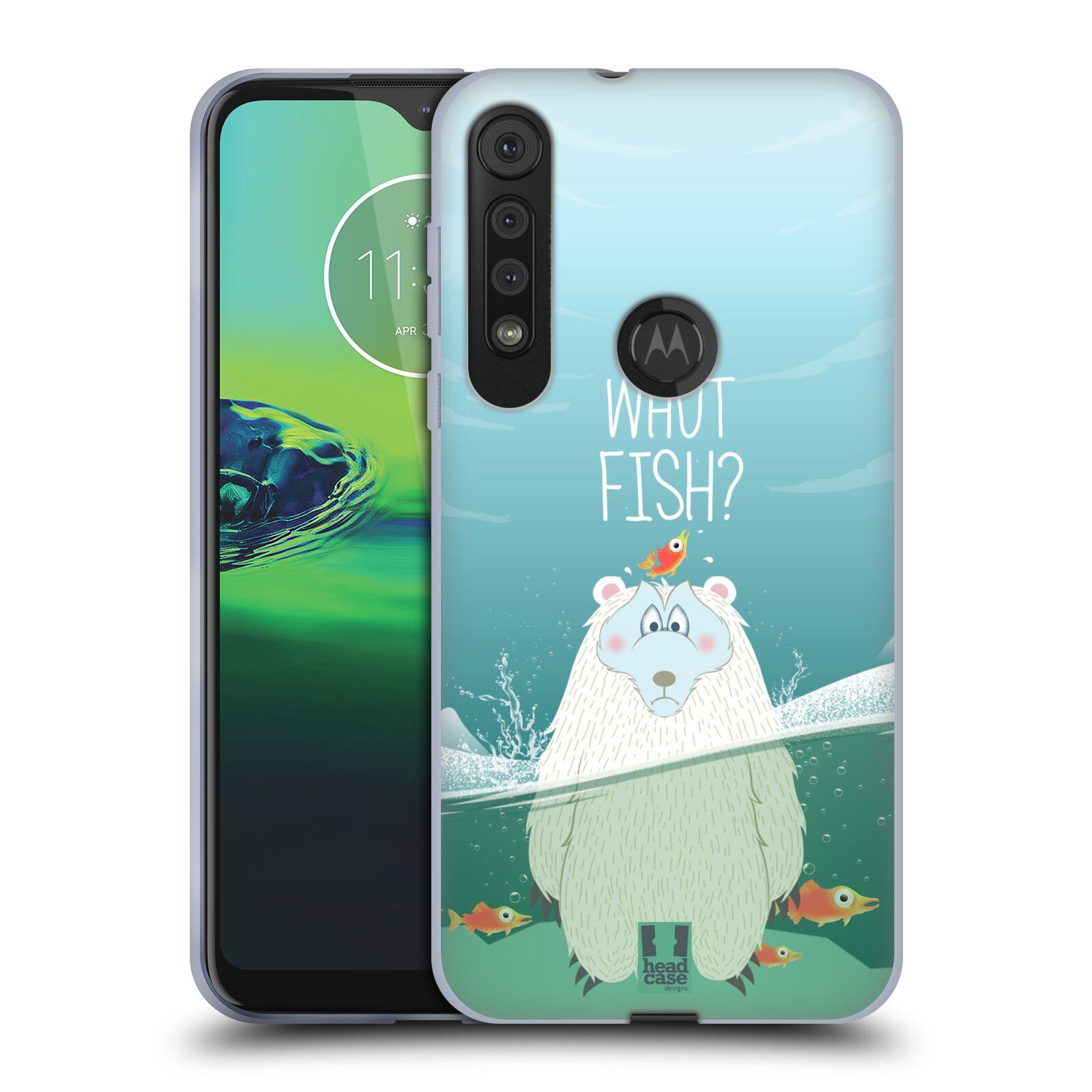 Silikonové pouzdro na mobil Motorola One Macro - Head Case - Medvěd Whut Fish?