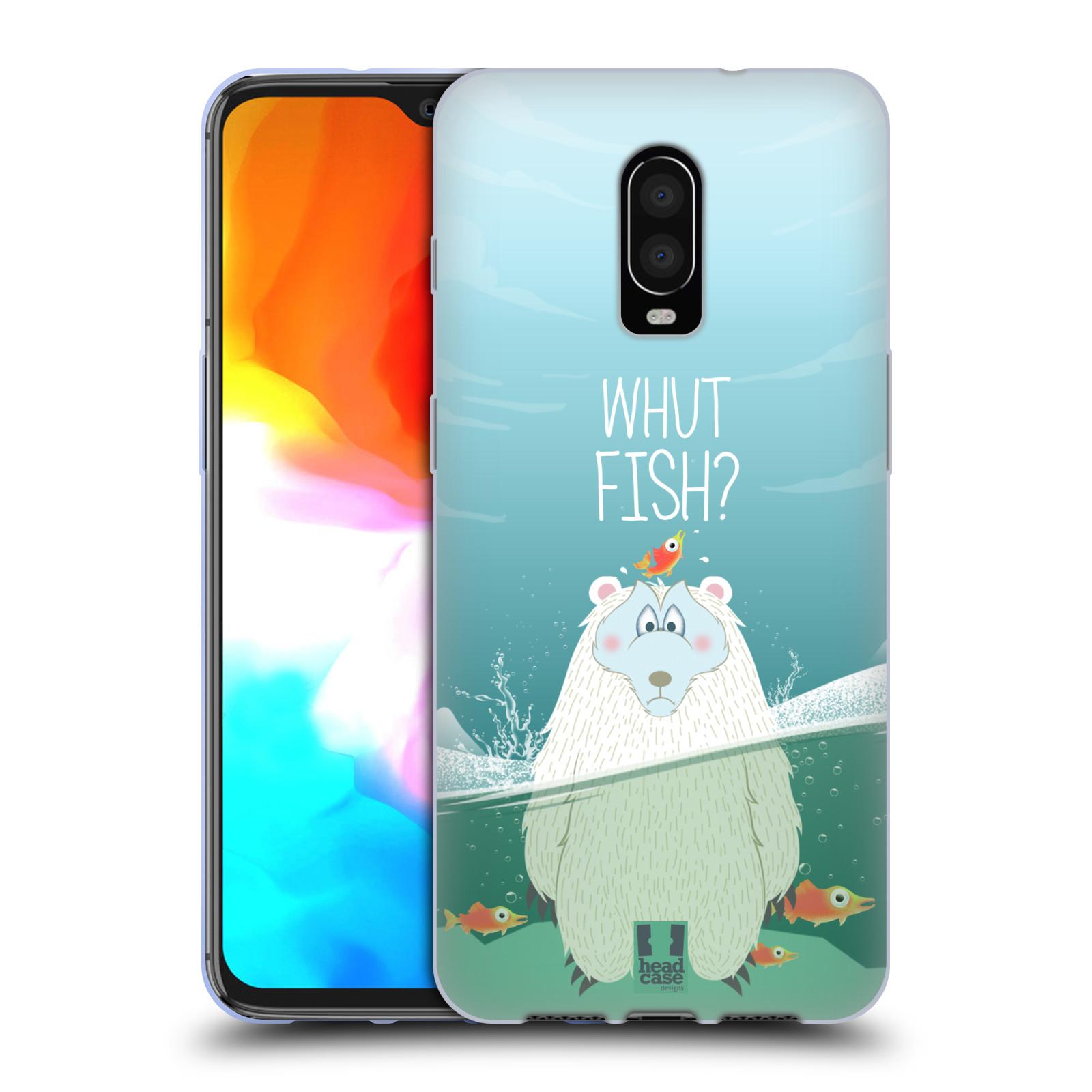Silikonové pouzdro na mobil OnePlus 6T - Head Case - Medvěd Whut Fish?
