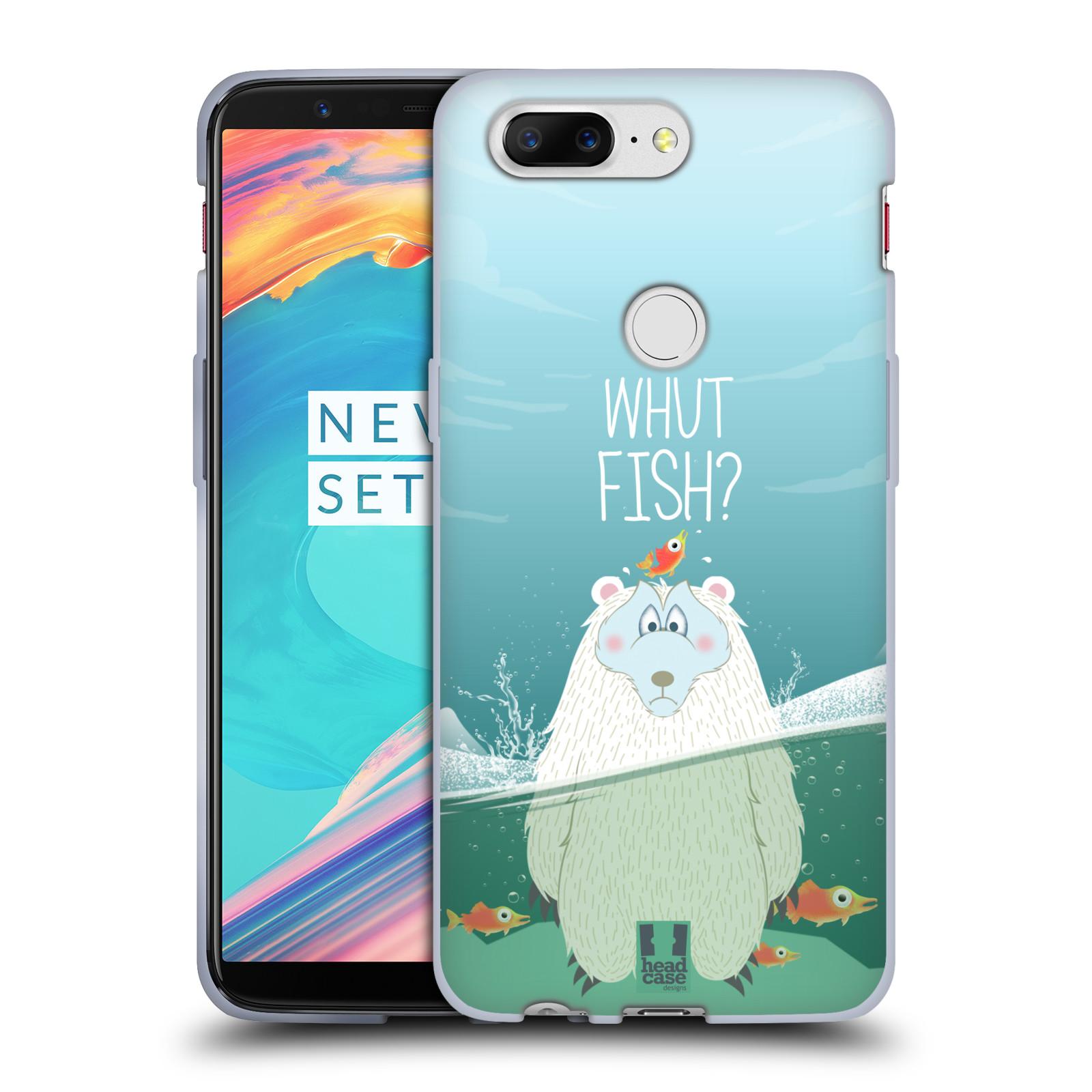 Silikonové pouzdro na mobil OnePlus 5T - Head Case - Medvěd Whut Fish?