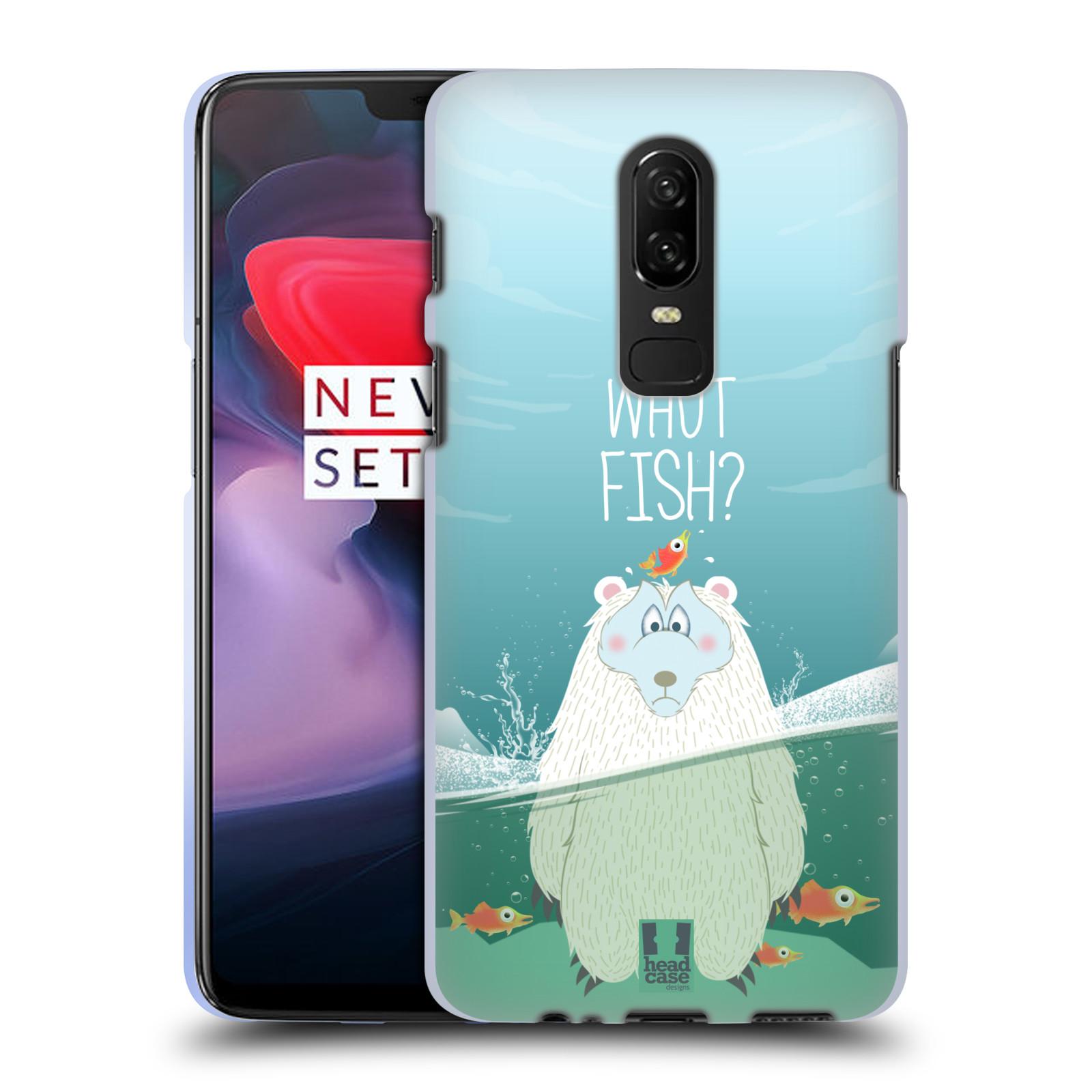 Silikonové pouzdro na mobil OnePlus 6 - Head Case - Medvěd Whut Fish?