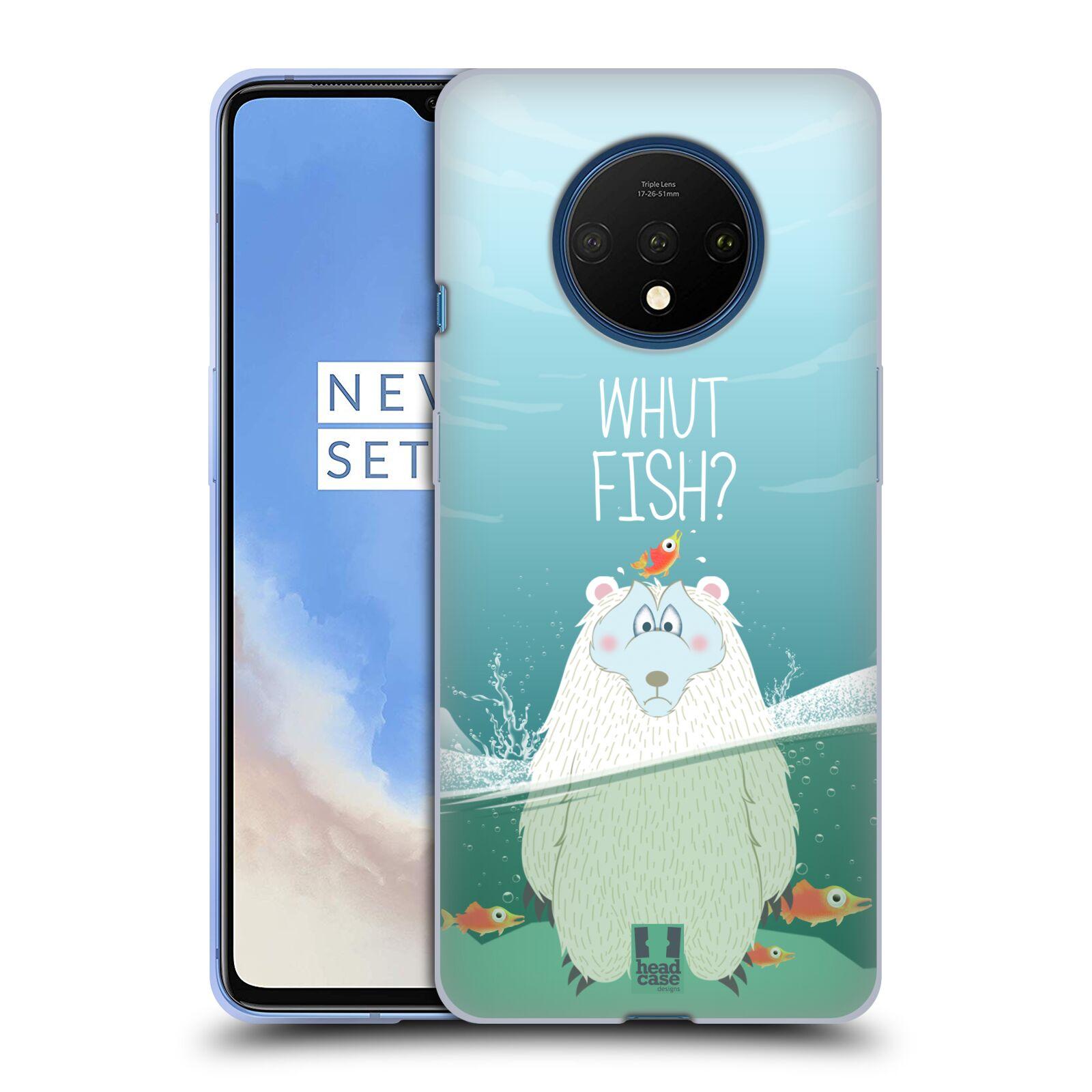 Silikonové pouzdro na mobil OnePlus 7T - Head Case - Medvěd Whut Fish?