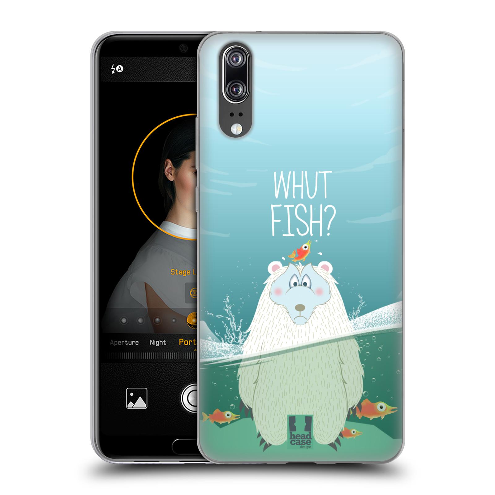 Silikonové pouzdro na mobil Huawei P20 - Head Case - Medvěd Whut Fish?