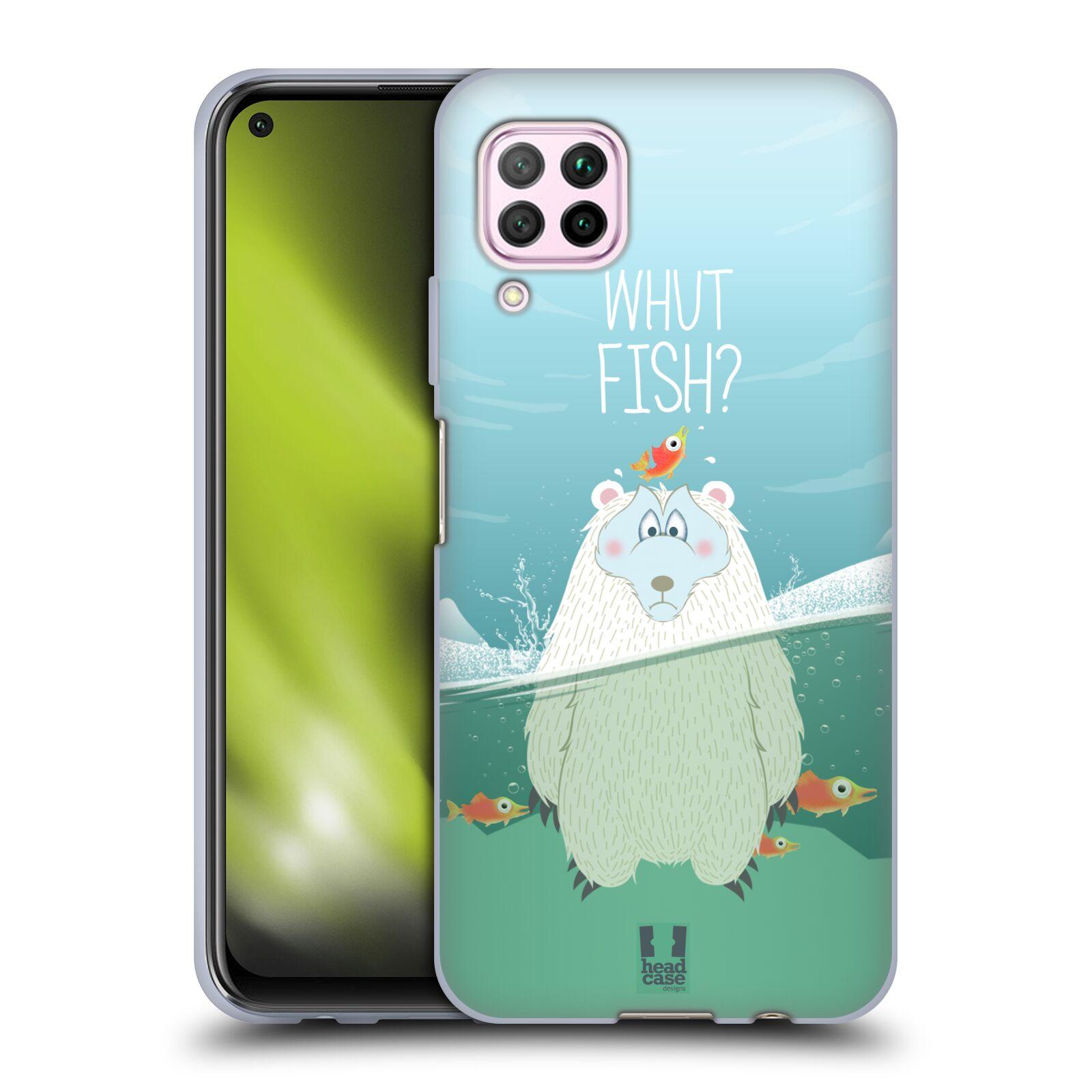 Silikonové pouzdro na mobil Huawei P40 Lite - Head Case - Medvěd Whut Fish?