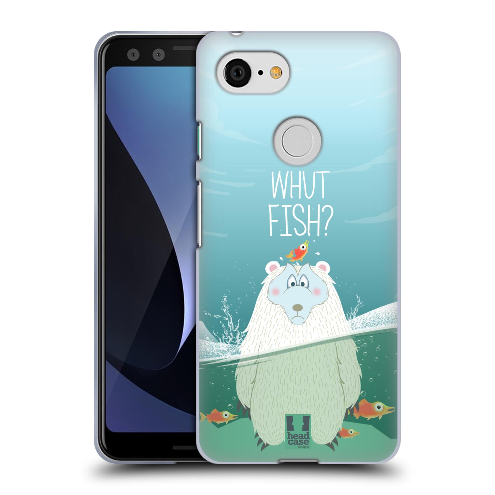Silikonové pouzdro na mobil Google Pixel 3 - Head Case - Medvěd Whut Fish?