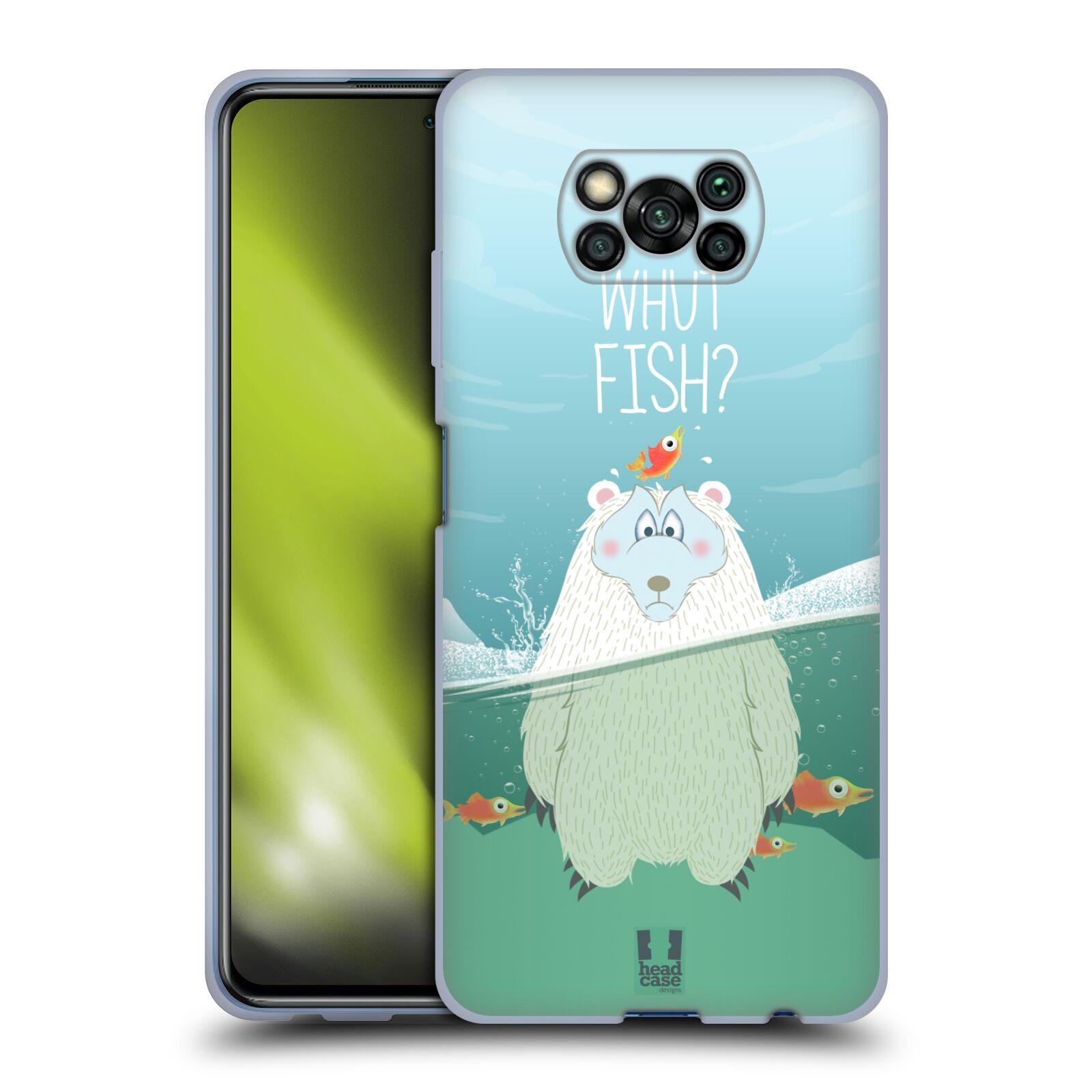 Silikonové pouzdro na mobil Xiaomi Poco X3 NFC - Head Case - Medvěd Whut Fish?
