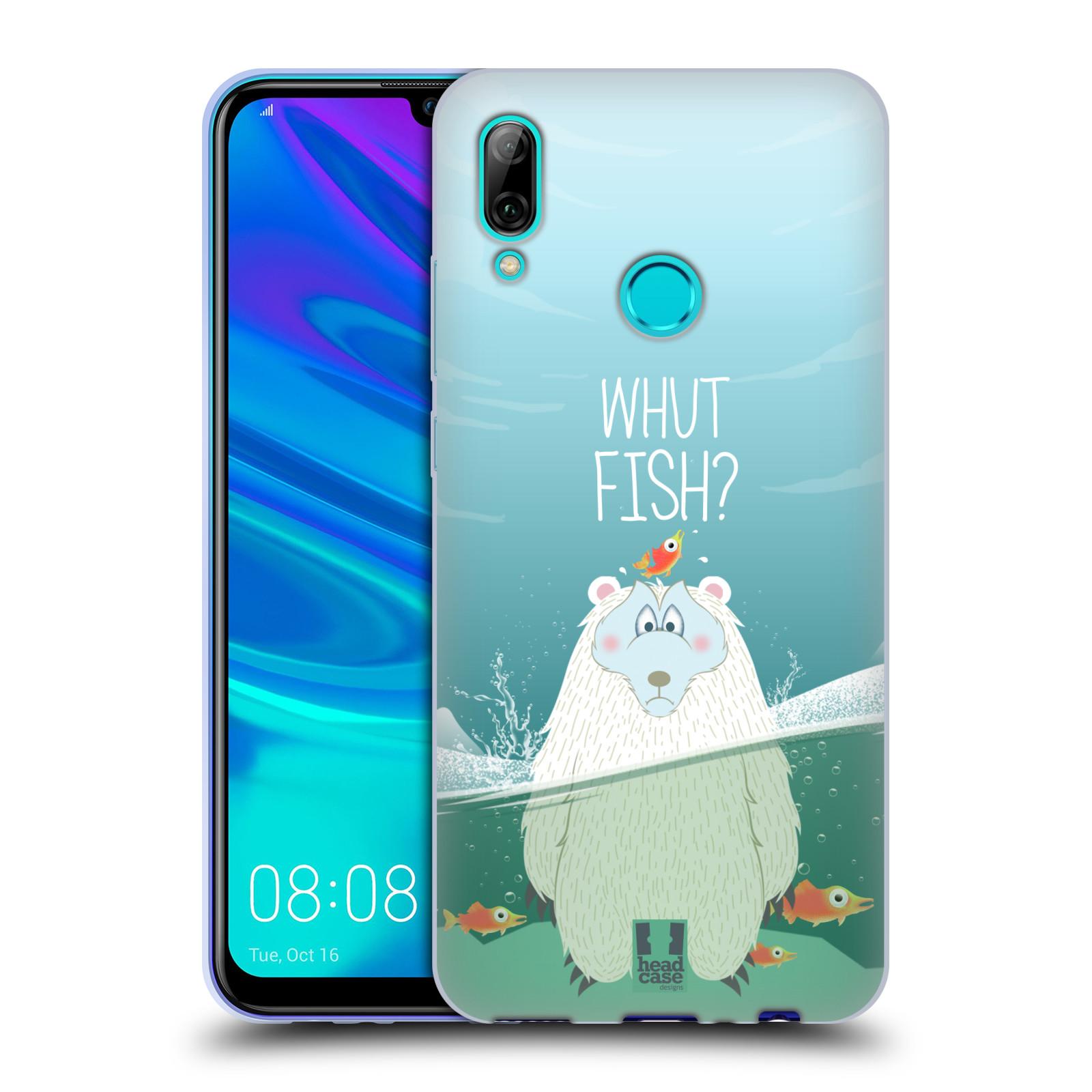 Silikonové pouzdro na mobil Huawei P Smart (2019) - Head Case - Medvěd Whut Fish?