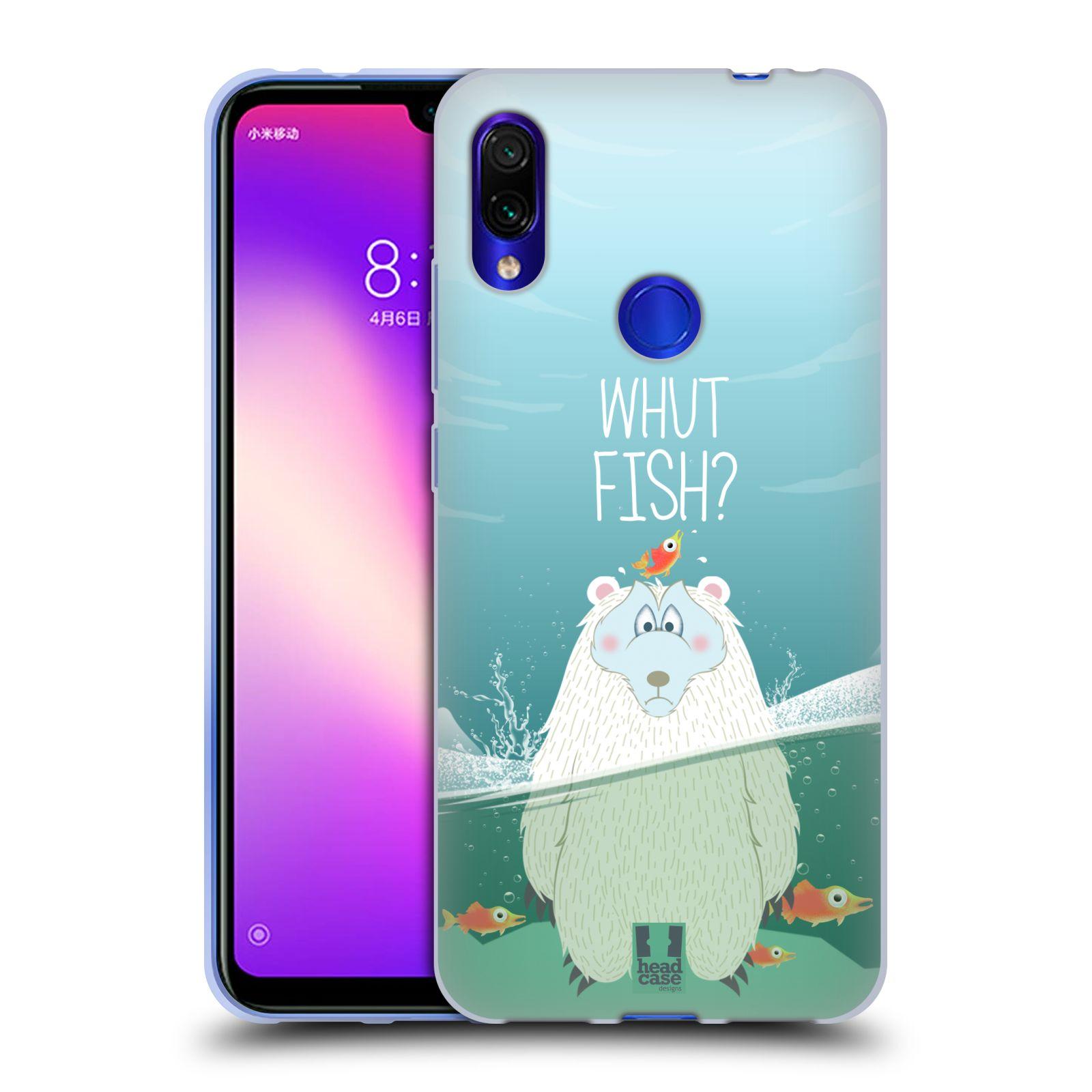 Silikonové pouzdro na mobil Xiaomi Redmi Note 7 - Head Case - Medvěd Whut Fish?