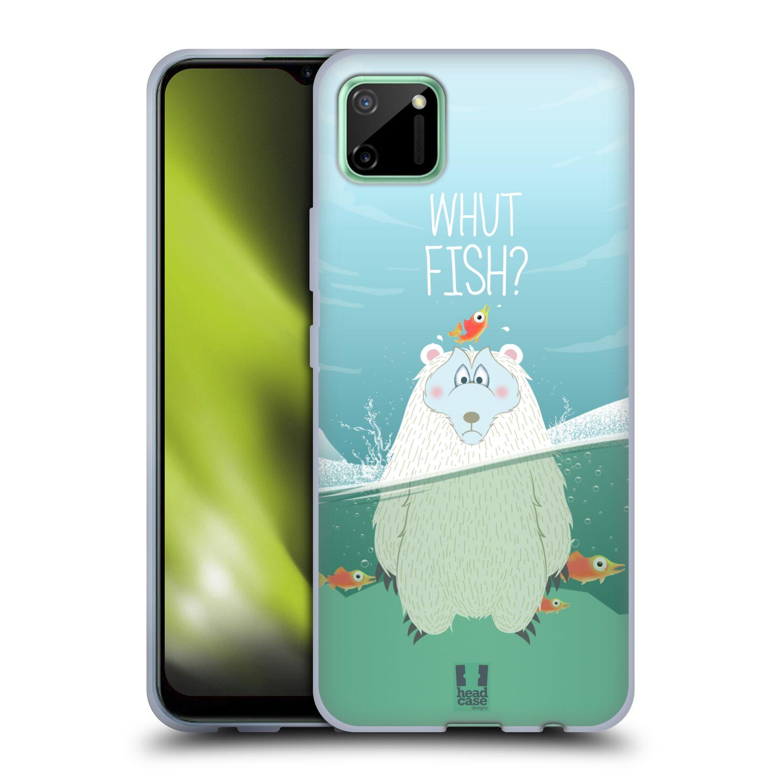 Silikonové pouzdro na mobil Realme C11 - Head Case - Medvěd Whut Fish?