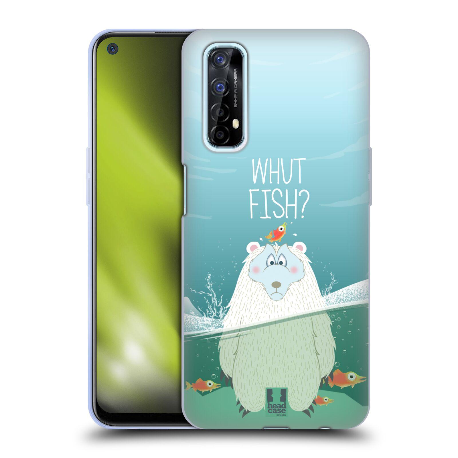 Silikonové pouzdro na mobil Realme 7 - Head Case - Medvěd Whut Fish?
