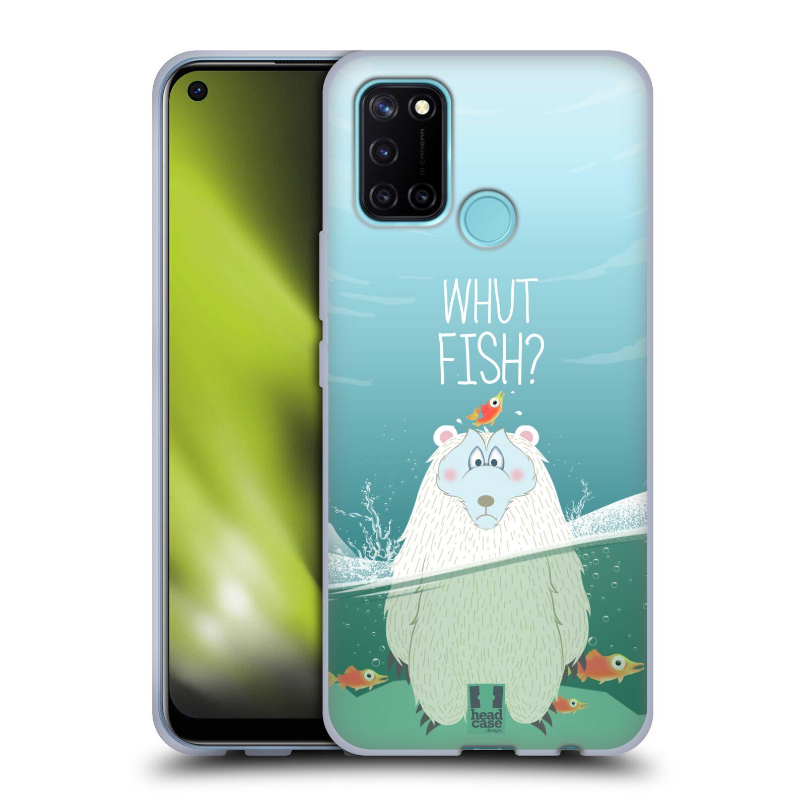 Silikonové pouzdro na mobil Realme 7i - Head Case - Medvěd Whut Fish?
