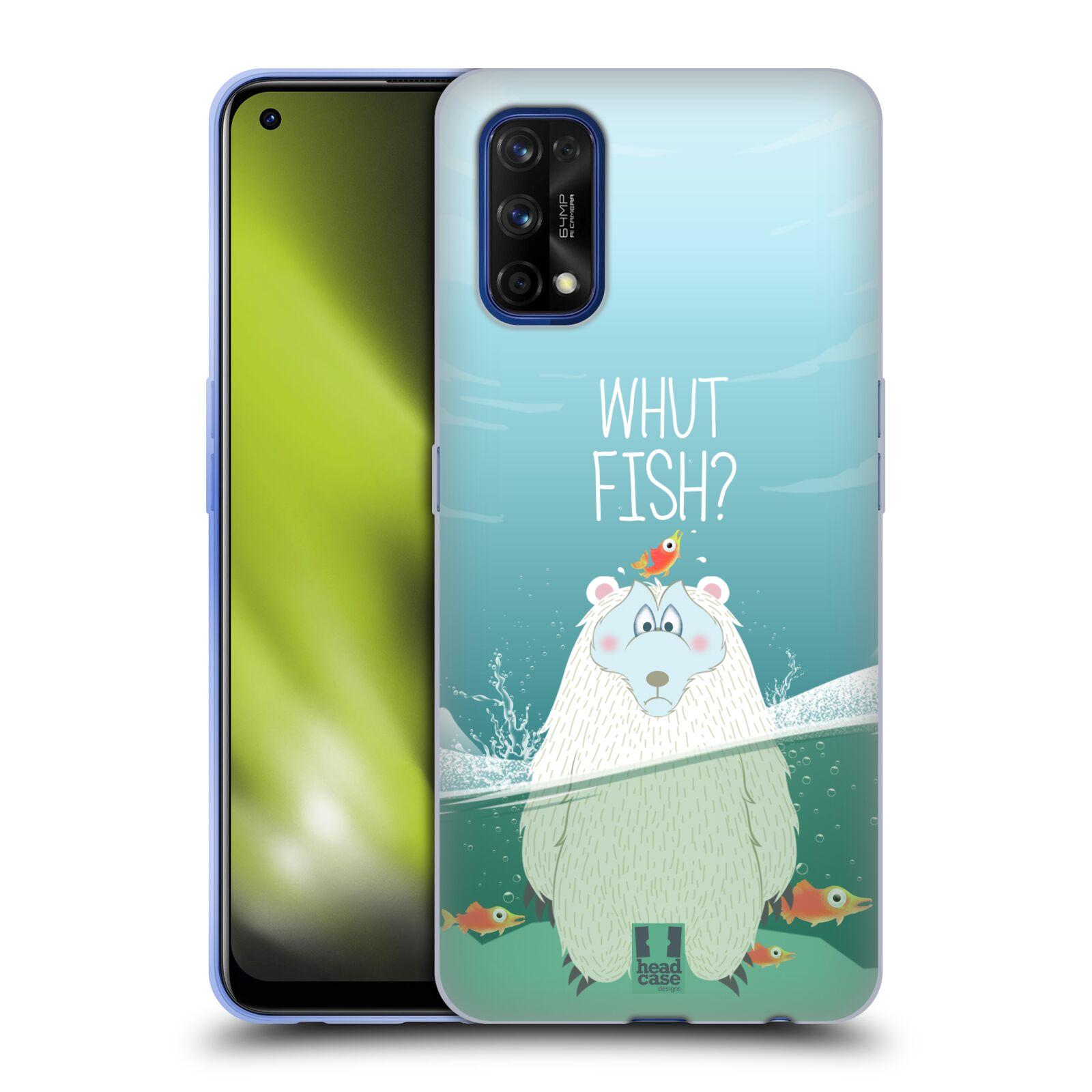 Silikonové pouzdro na mobil Realme 7 Pro - Head Case - Medvěd Whut Fish?