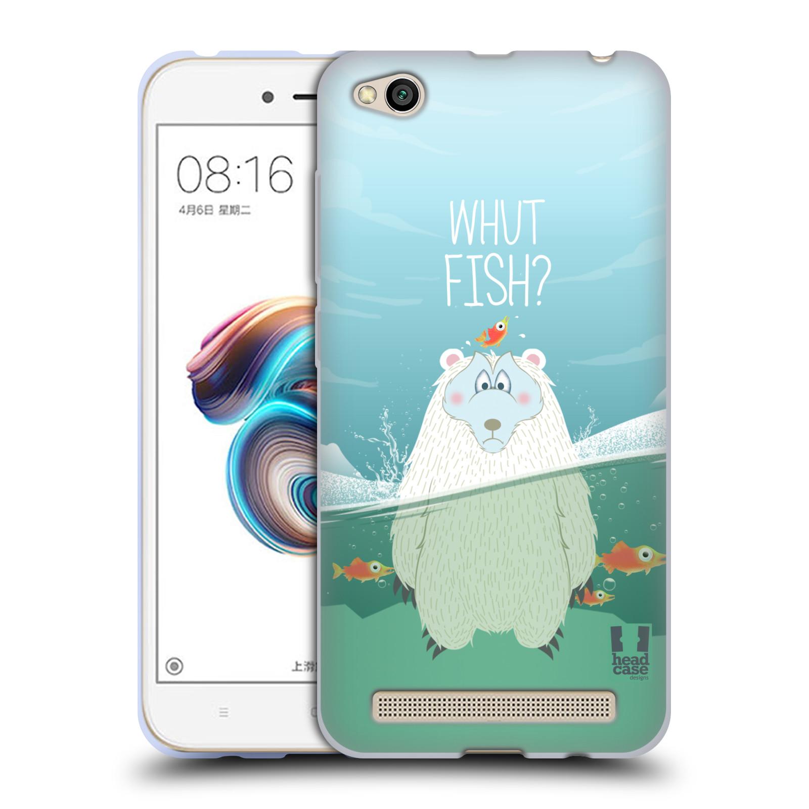 Silikonové pouzdro na mobil Xiaomi Redmi 5A - Head Case - Medvěd Whut Fish?