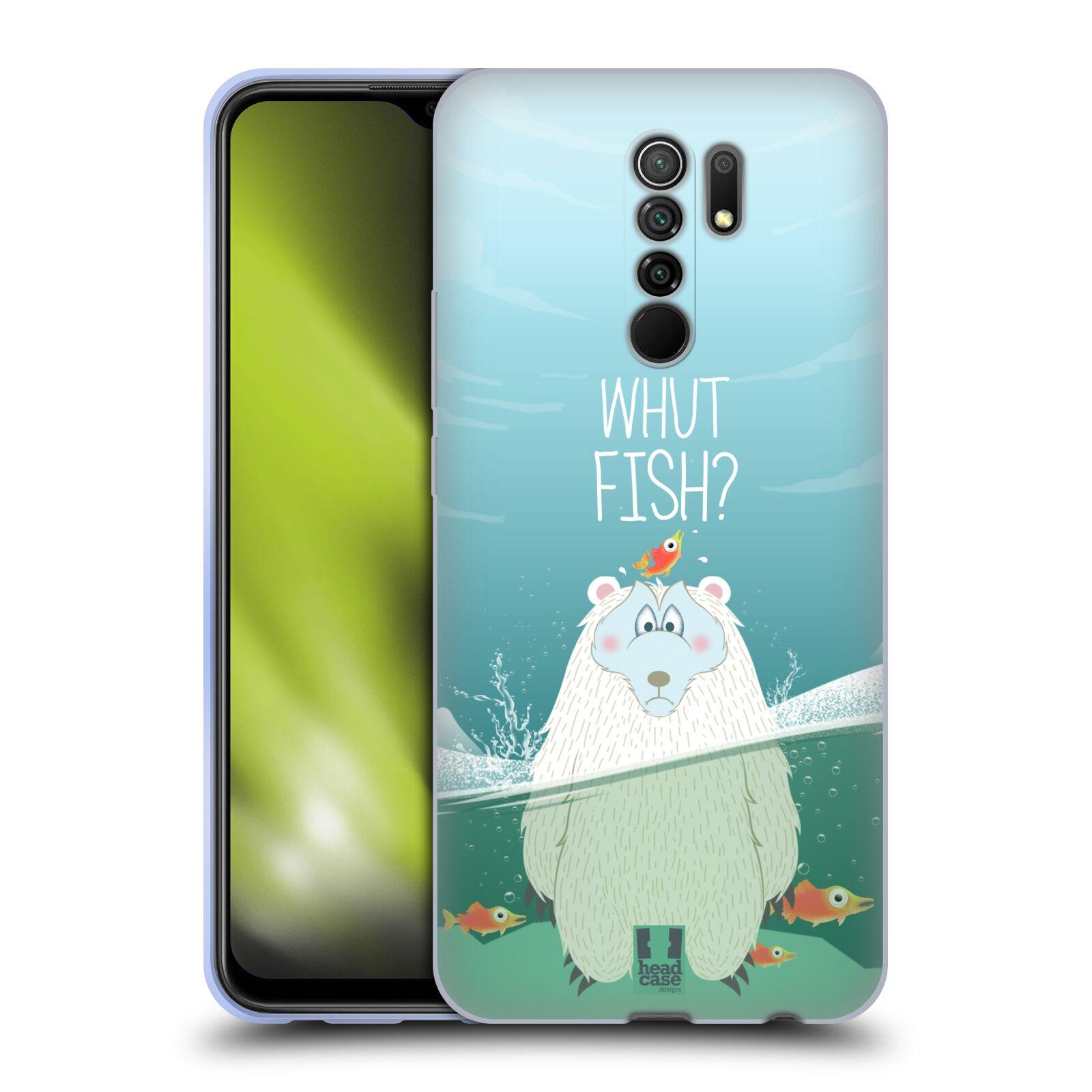 Silikonové pouzdro na mobil Xiaomi Redmi 9 - Head Case - Medvěd Whut Fish?