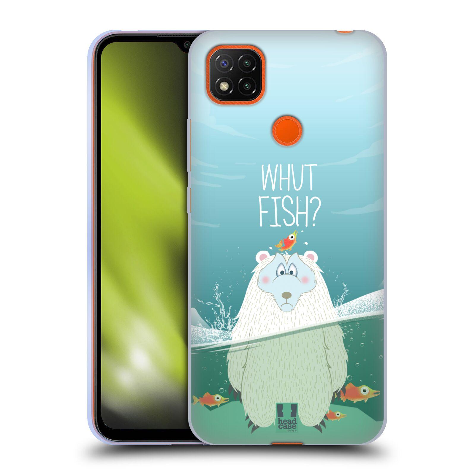 Silikonové pouzdro na mobil Xiaomi Redmi 9C - Head Case - Medvěd Whut Fish?