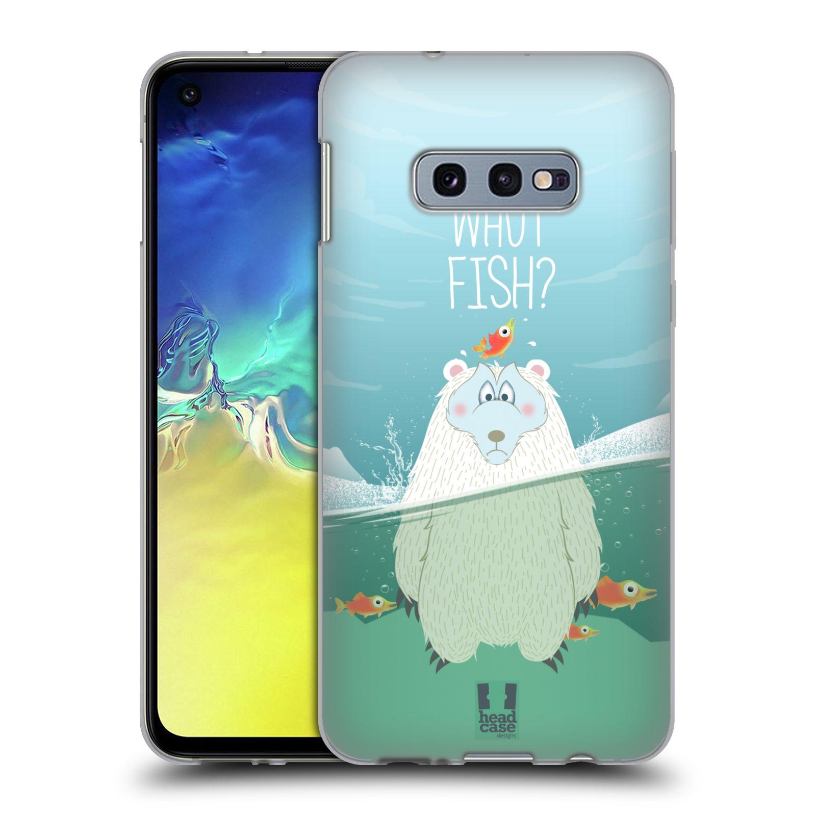 Silikonové pouzdro na mobil Samsung Galaxy S10e - Head Case - Medvěd Whut Fish?