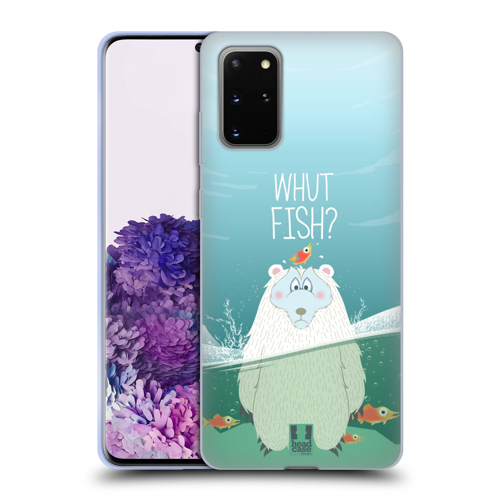 Silikonové pouzdro na mobil Samsung Galaxy S20 Plus - Head Case - Medvěd Whut Fish?
